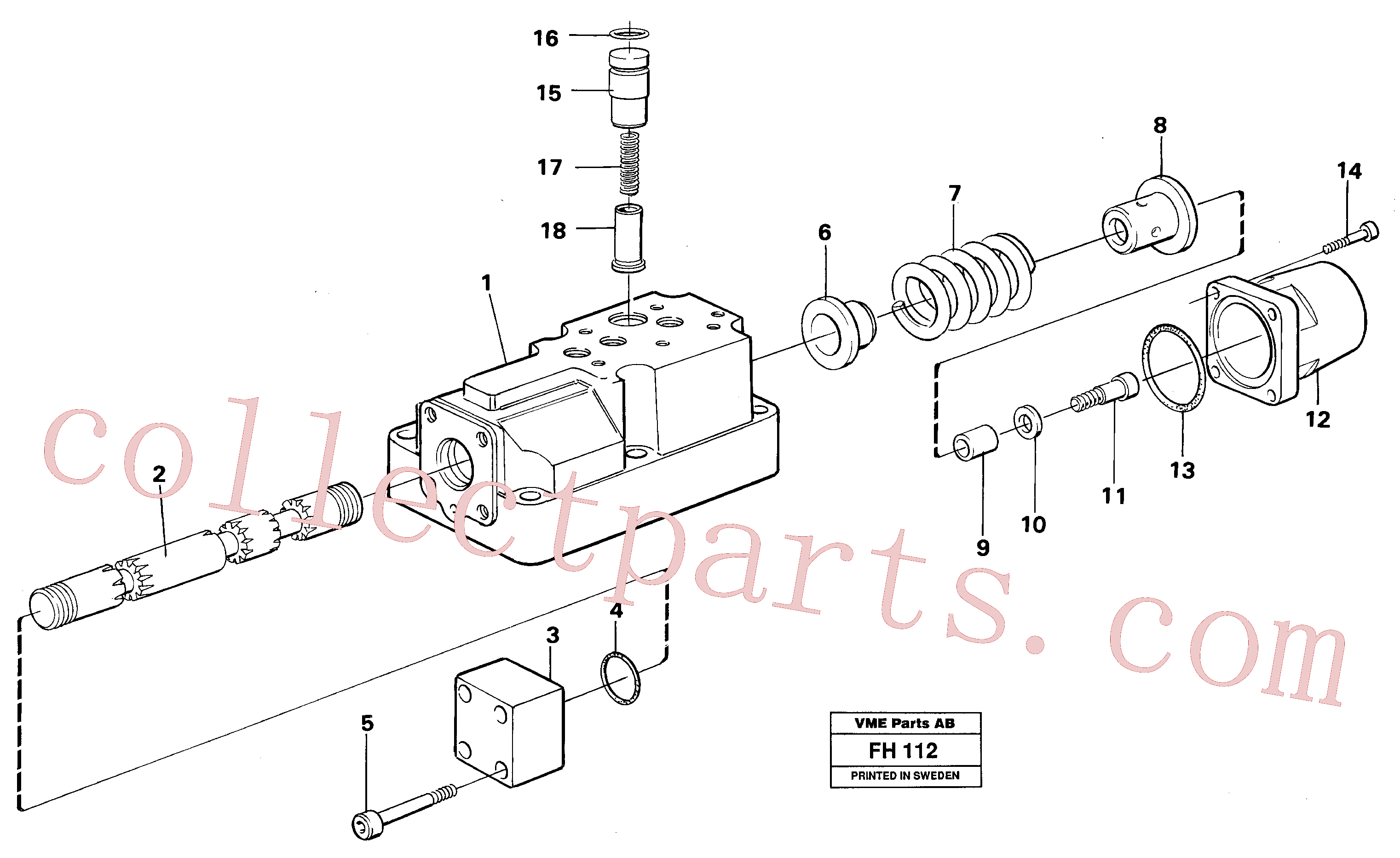 VOE14260699 for Volvo Four-way valve dipper arm, primary(FH112 assembly)