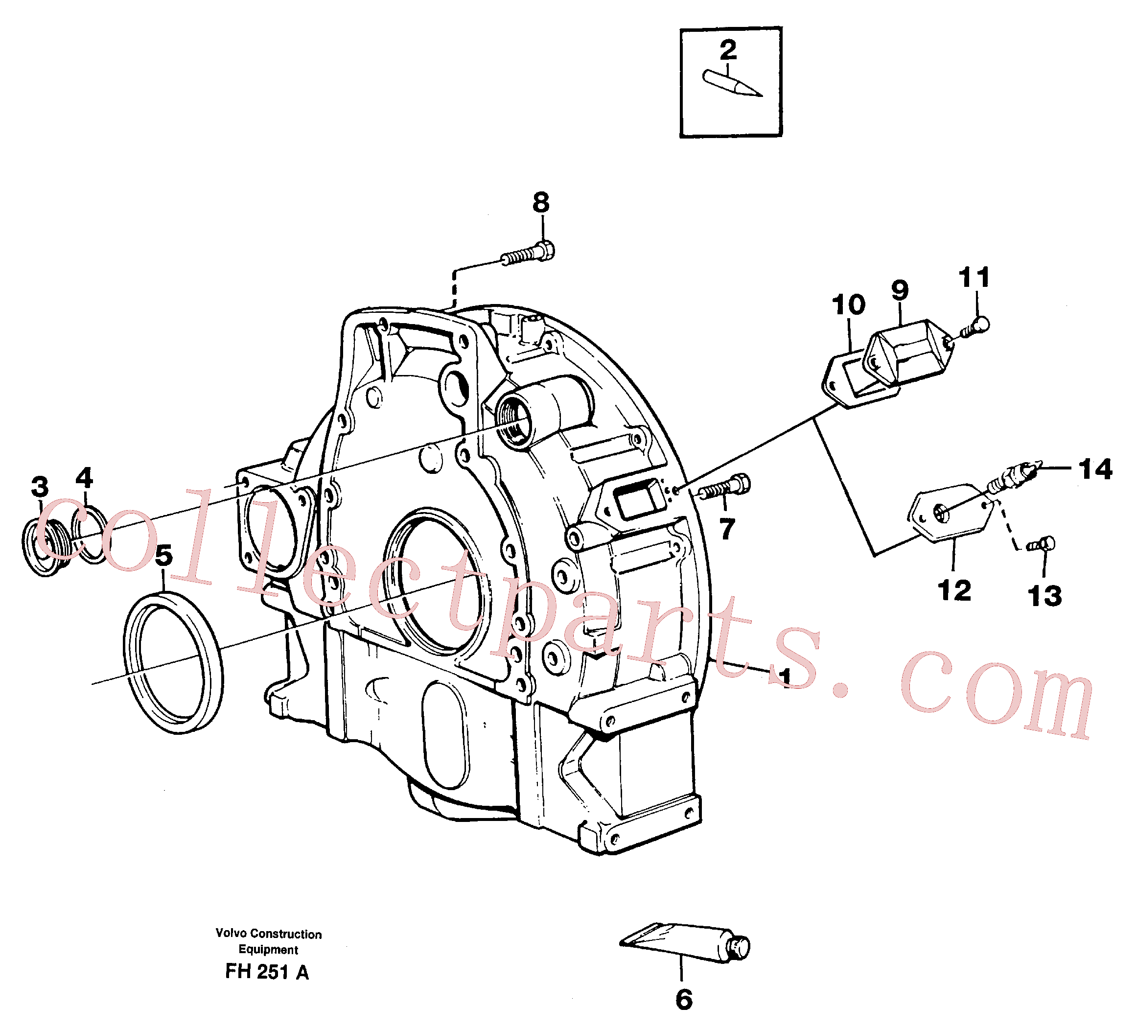 VOE13971002 for Volvo Flywheel housing(FH251A assembly)