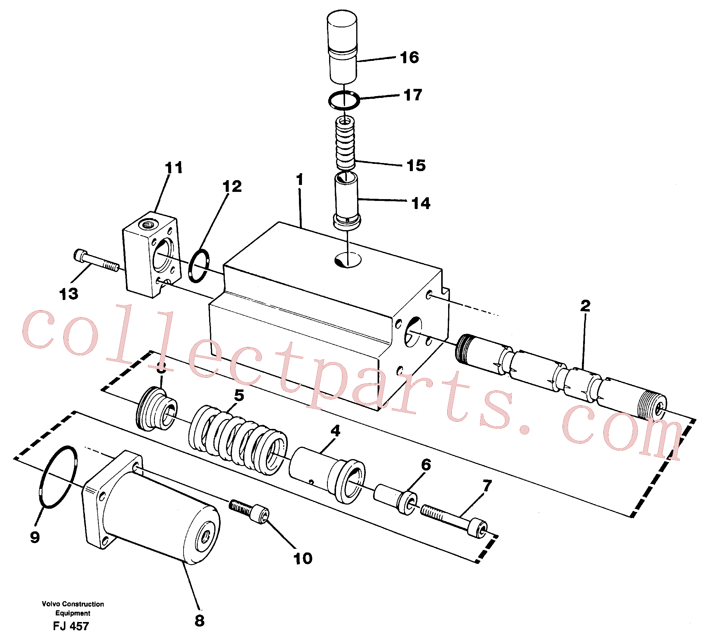 VOE14048548 for Volvo Four-way valve(FJ457 assembly)