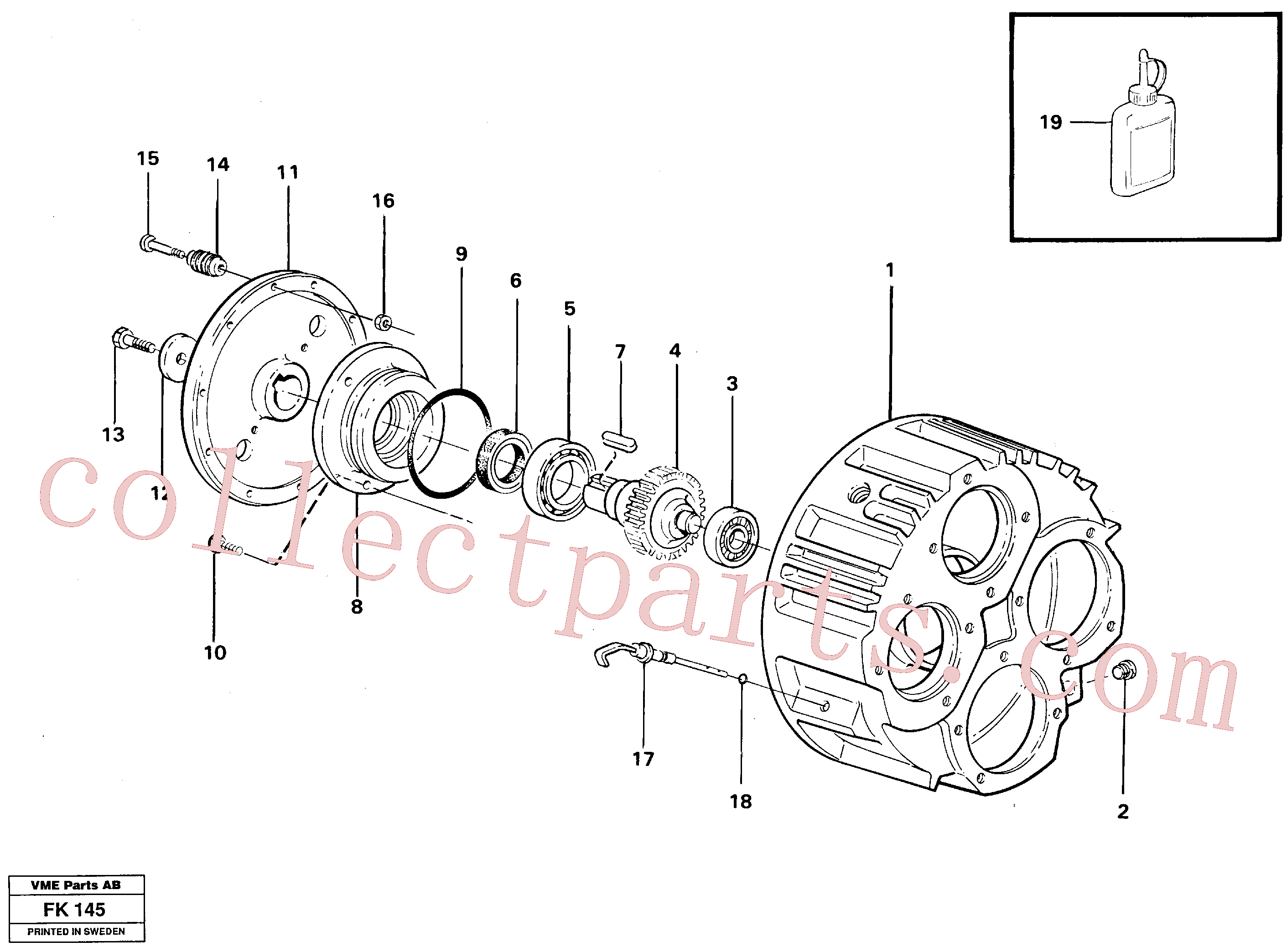 VOE14237965 for Volvo Pump gear box(FK145 assembly)