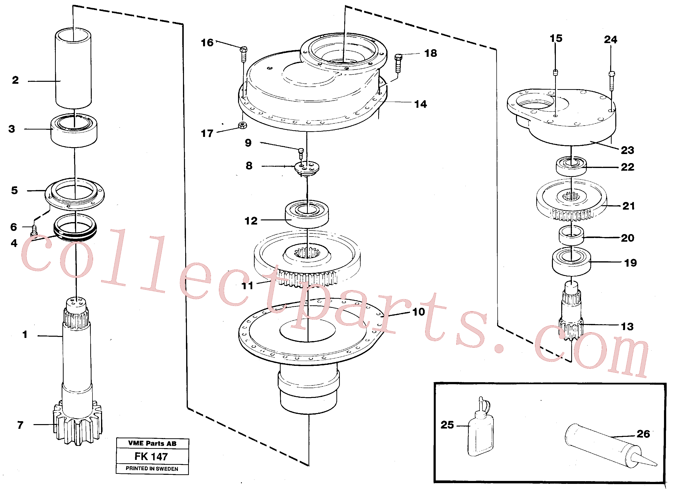 VOE973244 for Volvo Swing gearbox(FK147 assembly)
