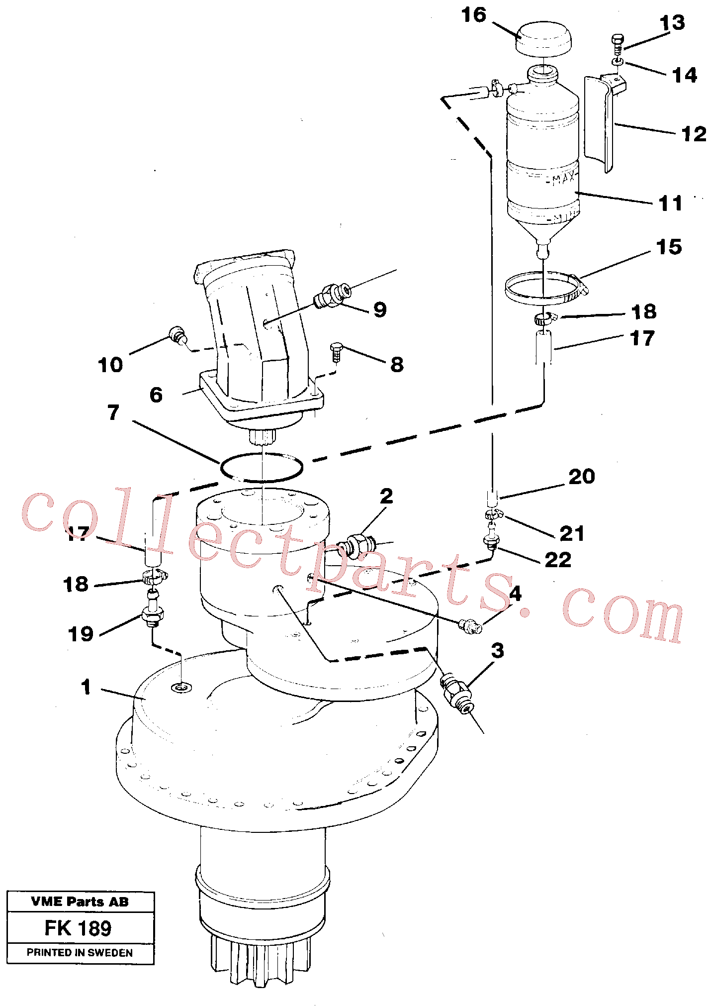 VOE4850693 for Volvo Slewing gear box, compl.(FK189 assembly)