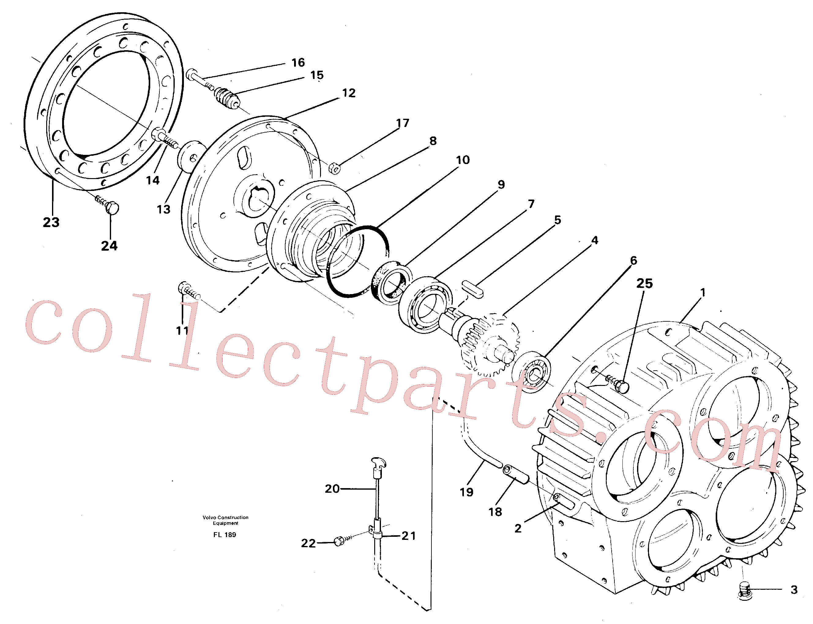 VOE955564 for Volvo Pump gear box(FL189 assembly)
