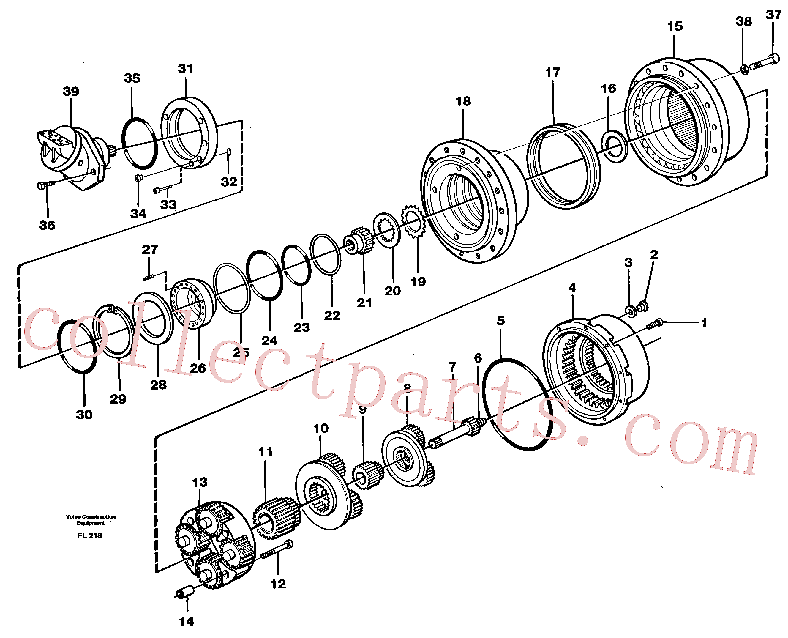 VOE11701197 for Volvo Planetary gear, travel(FL218 assembly)