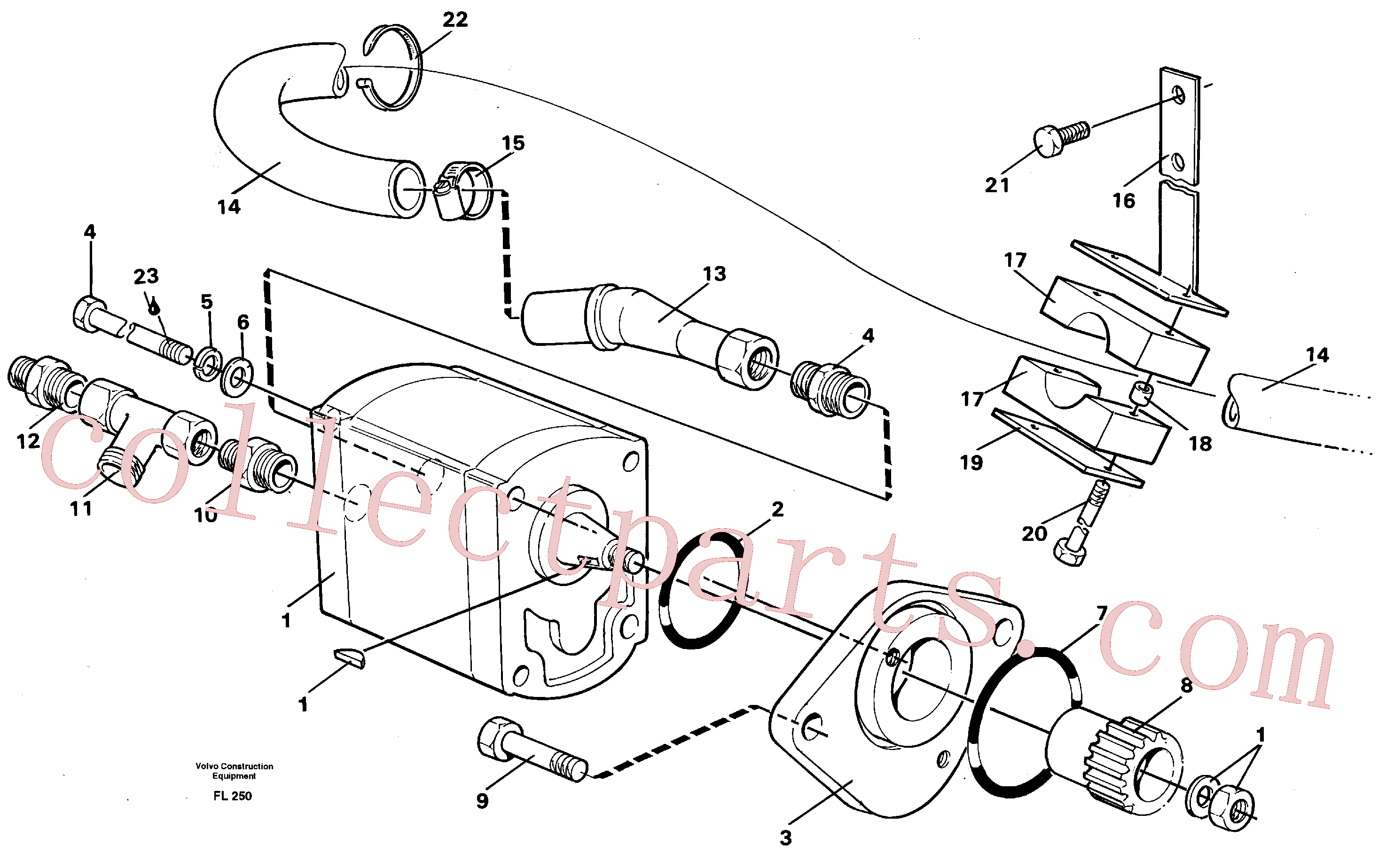 VOE14264640 for Volvo Servo pump with assembly parts(FL250 assembly)