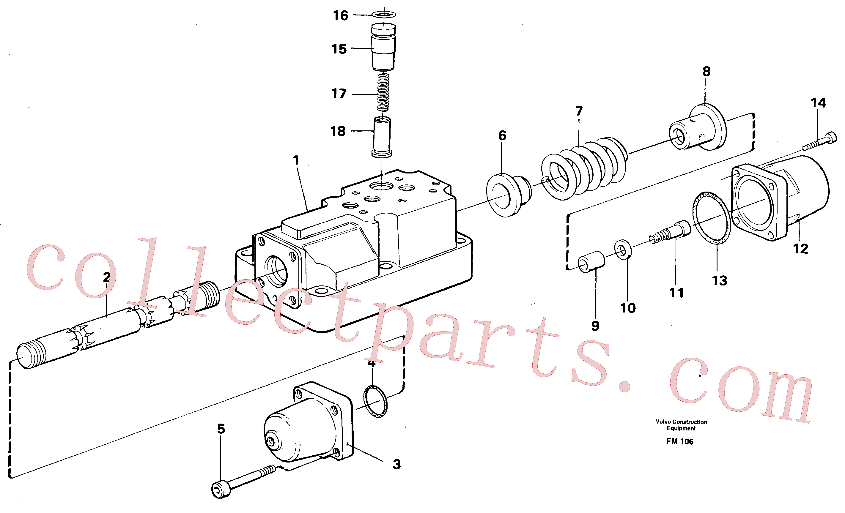 VOE14211759 for Volvo Four-way valve(FM106 assembly)