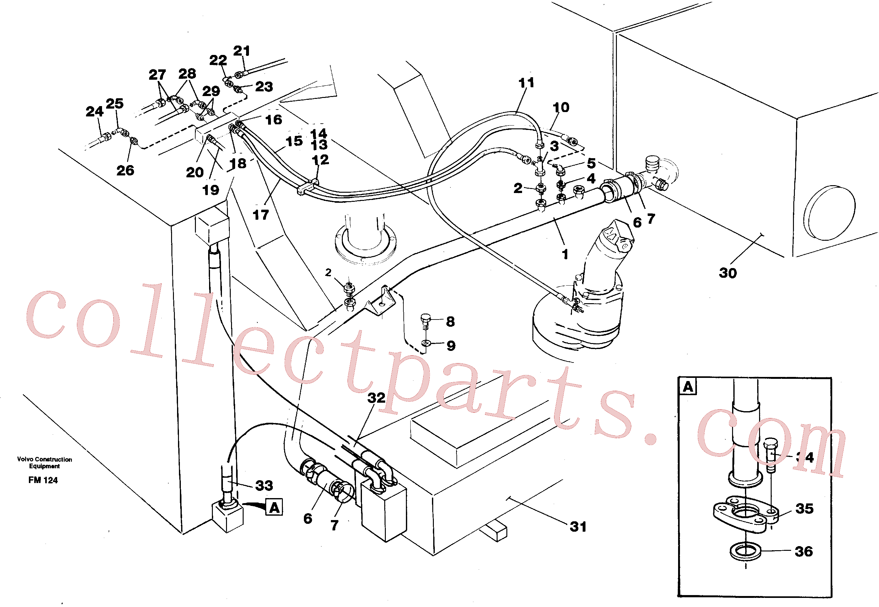VOE14047202 for Volvo Hydraulic system, return lines(FM124 assembly)