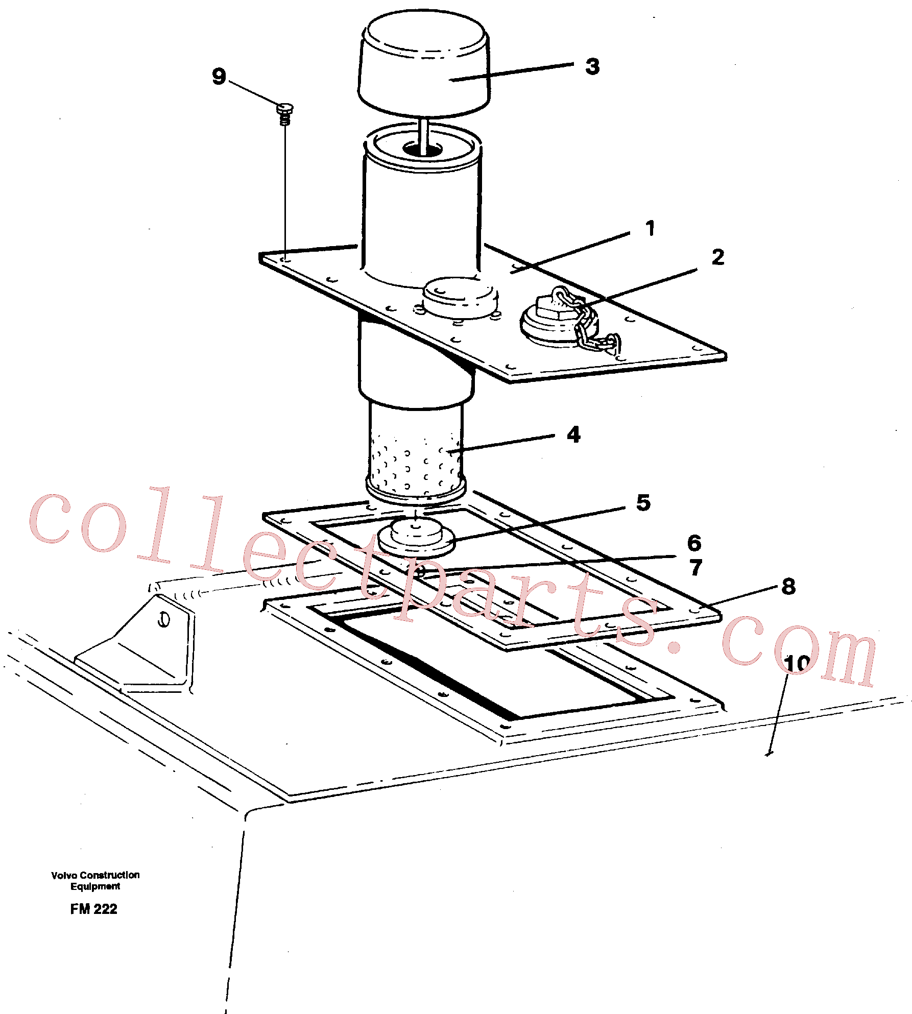 VOE14015061 for Volvo Cover(FM222 assembly)