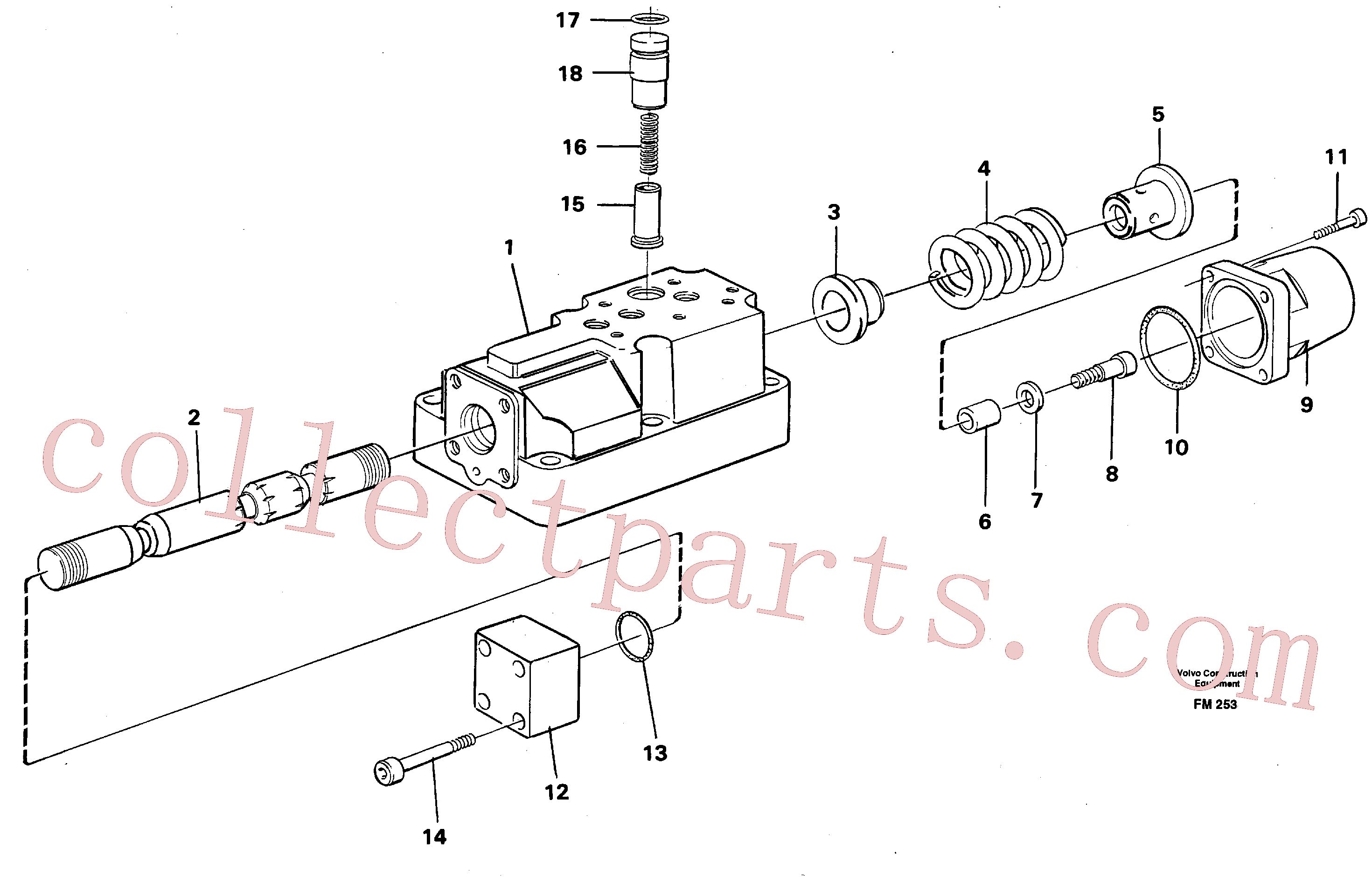 VOE14211759 for Volvo Four-way valve(FM253 assembly)