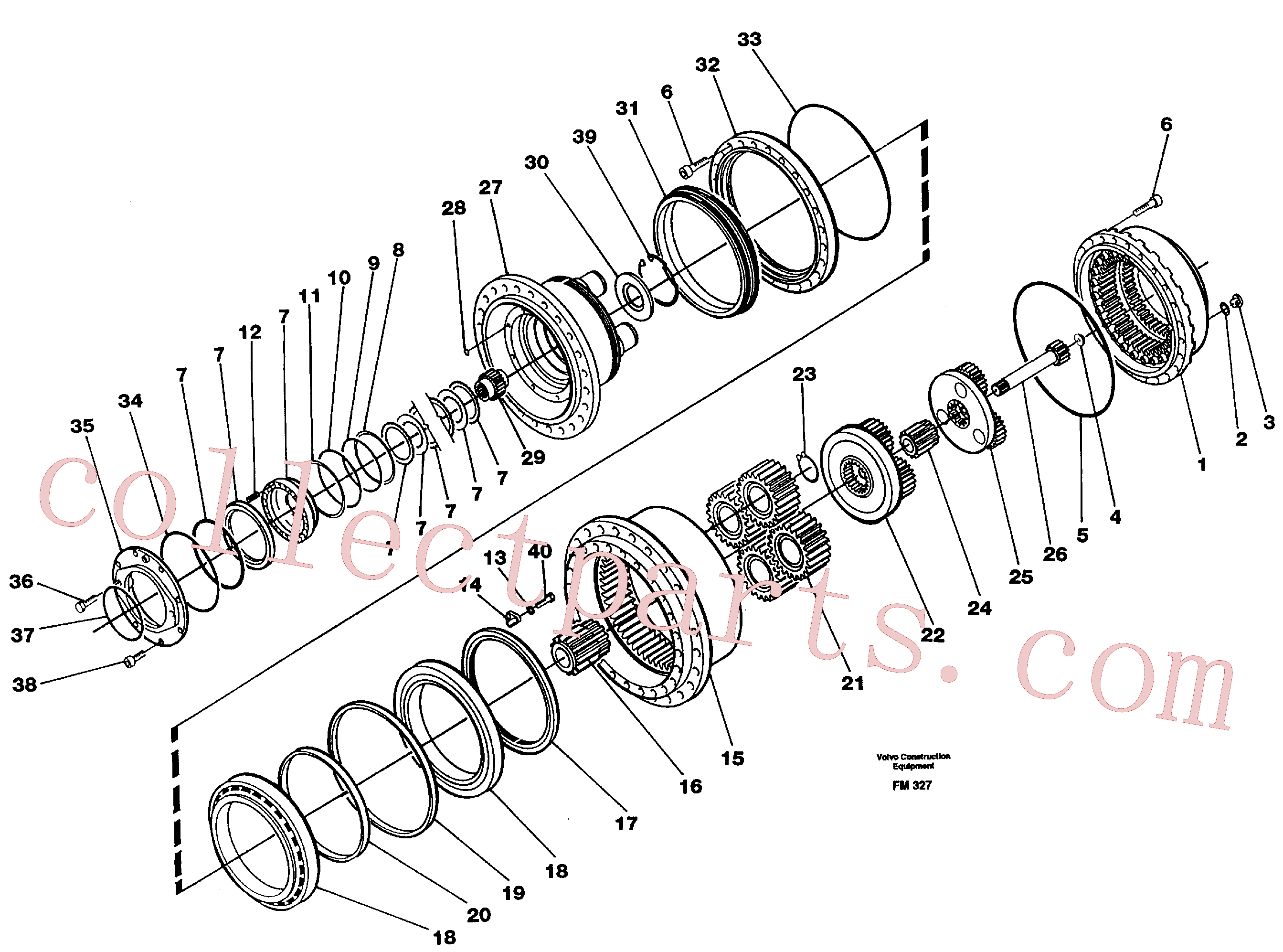 VOE11701205 for Volvo Planetary gear, travel(FM327 assembly)