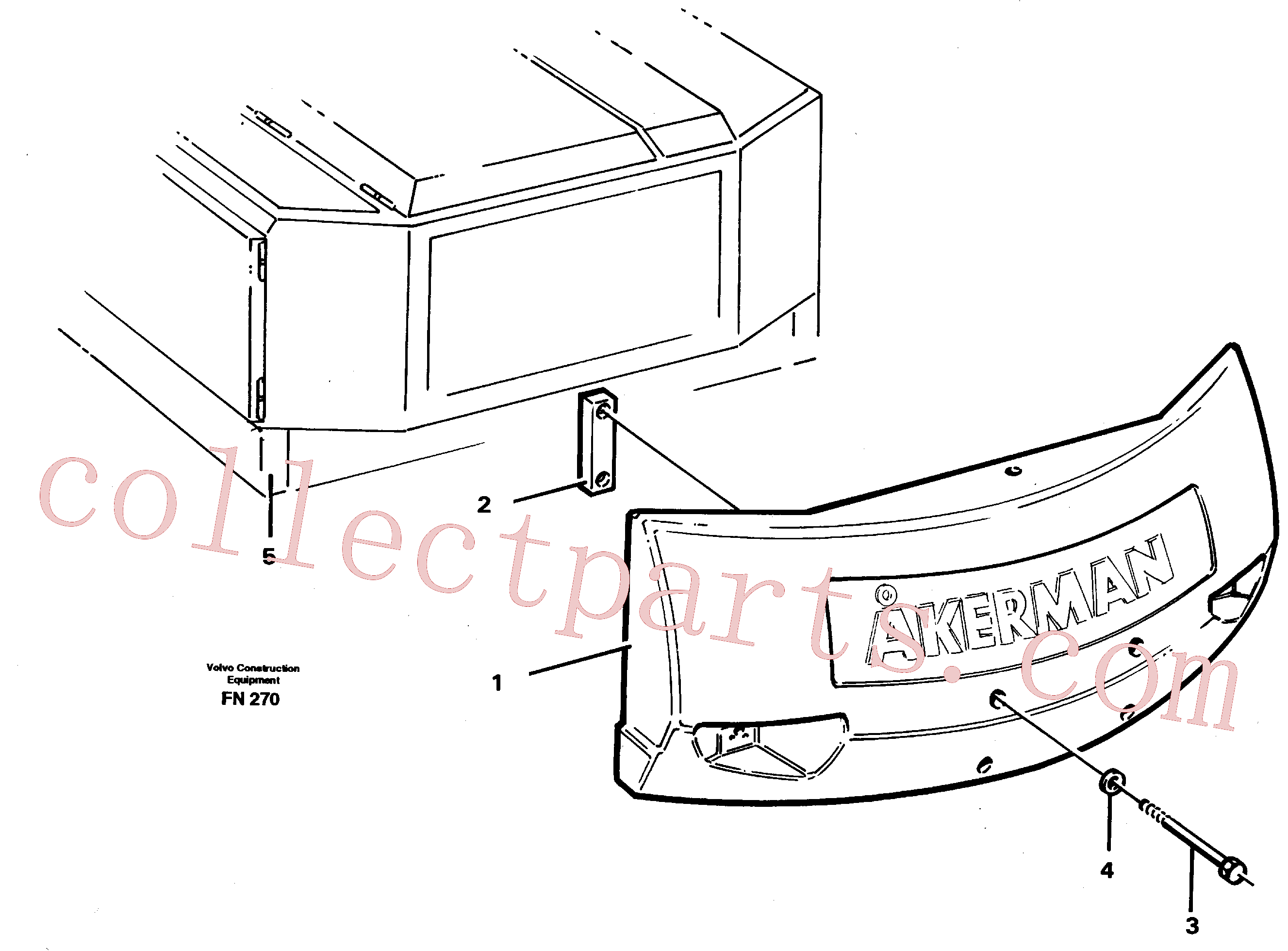 VOE13974302 for Volvo Counterweights(FN270 assembly)