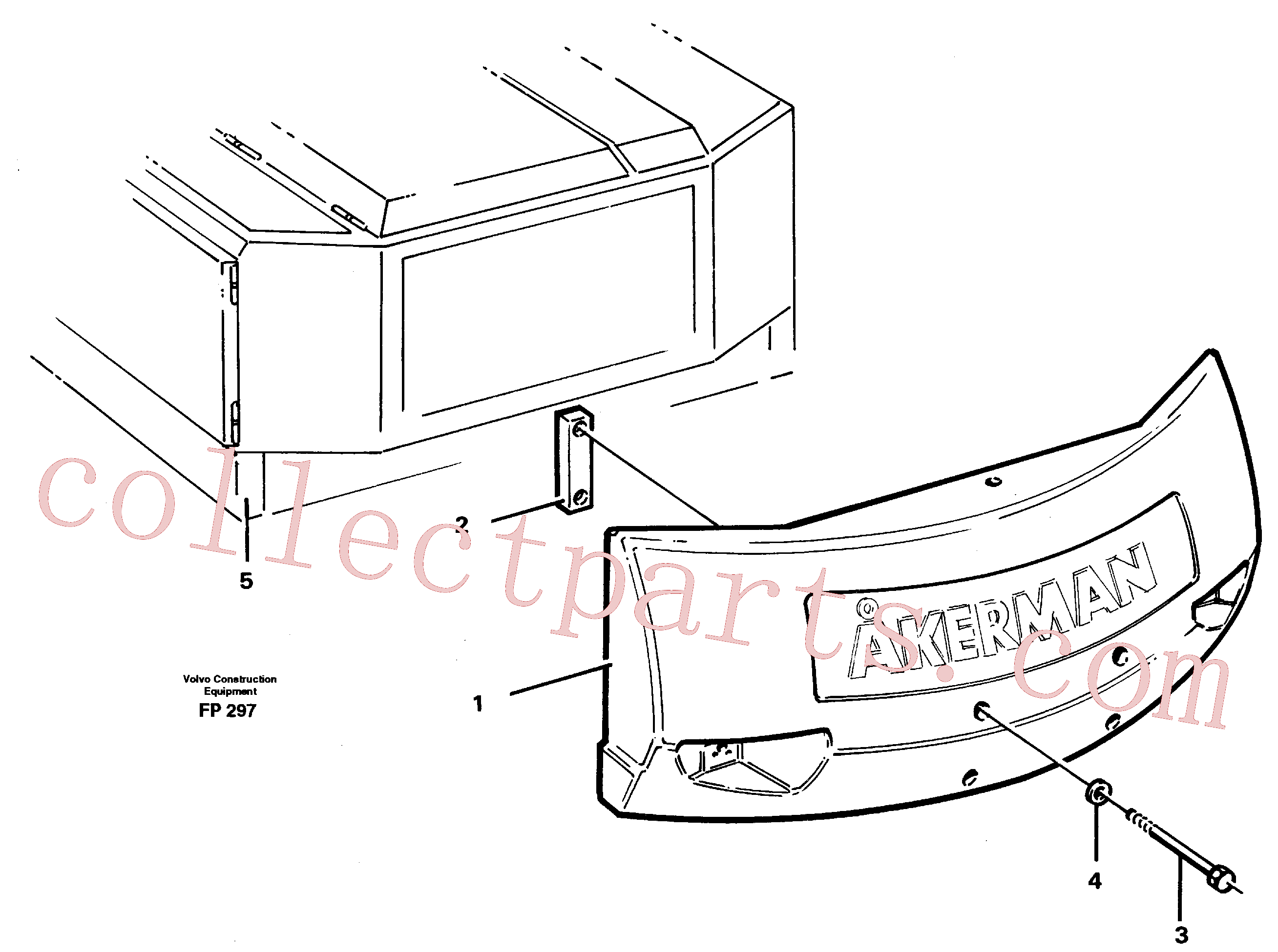 VOE13974302 for Volvo Counterweights(FP297 assembly)