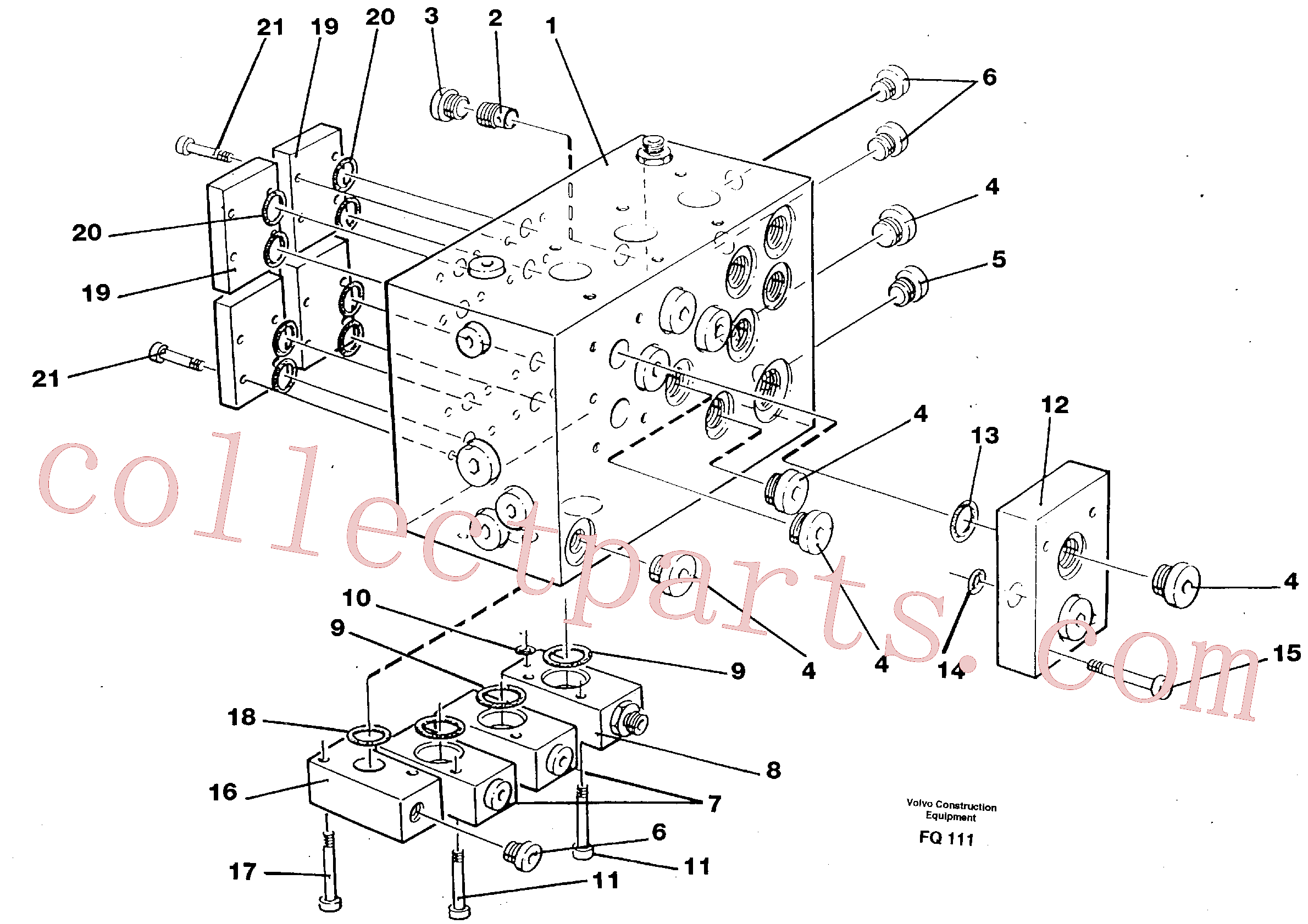 VOE11998170 for Volvo Slew valve assembly block(FQ111 assembly)