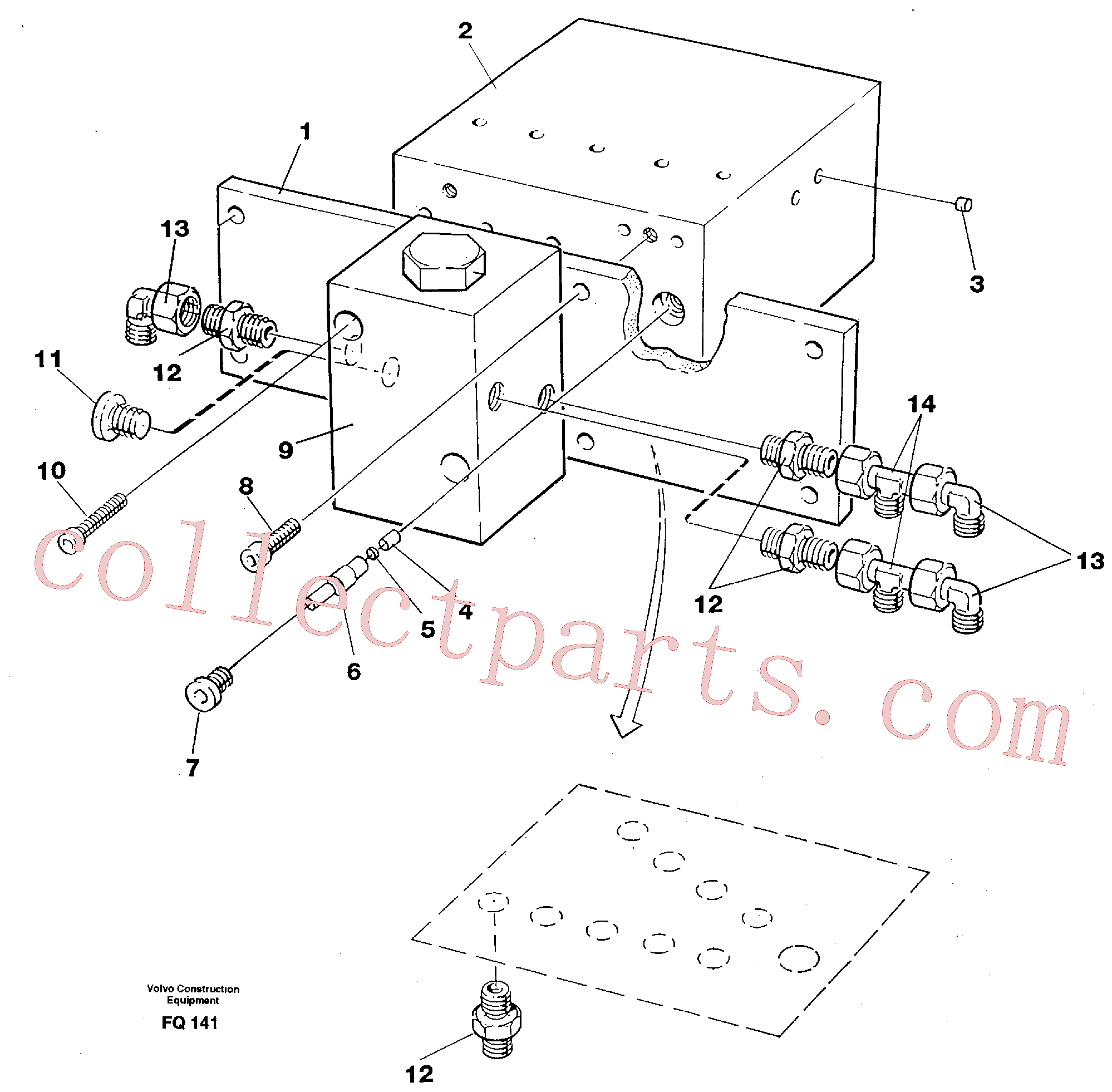 VOE14261190 for Volvo Control block, travel/servo(FQ141 assembly)