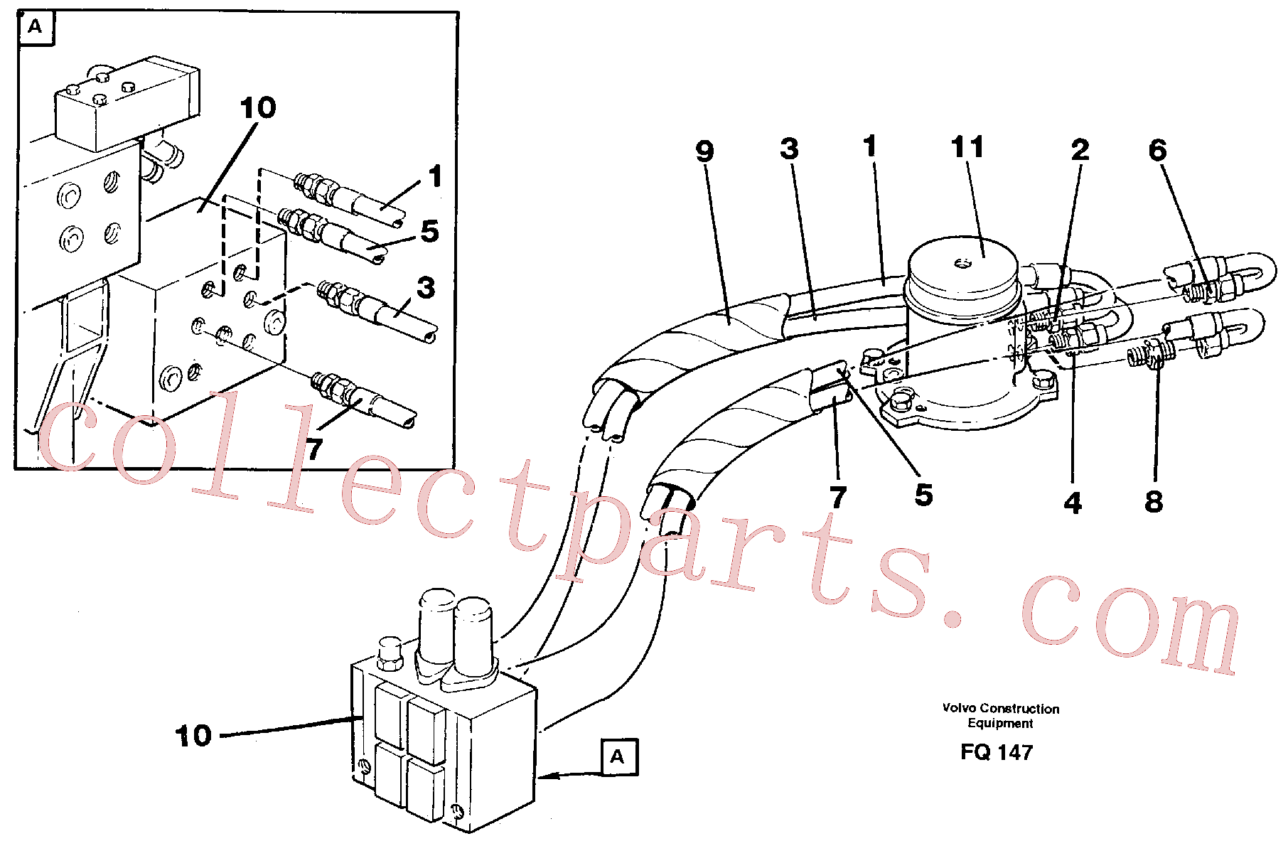 VOE14251421 for Volvo Hydraulic system, transport in uppercarrige(FQ147 assembly)