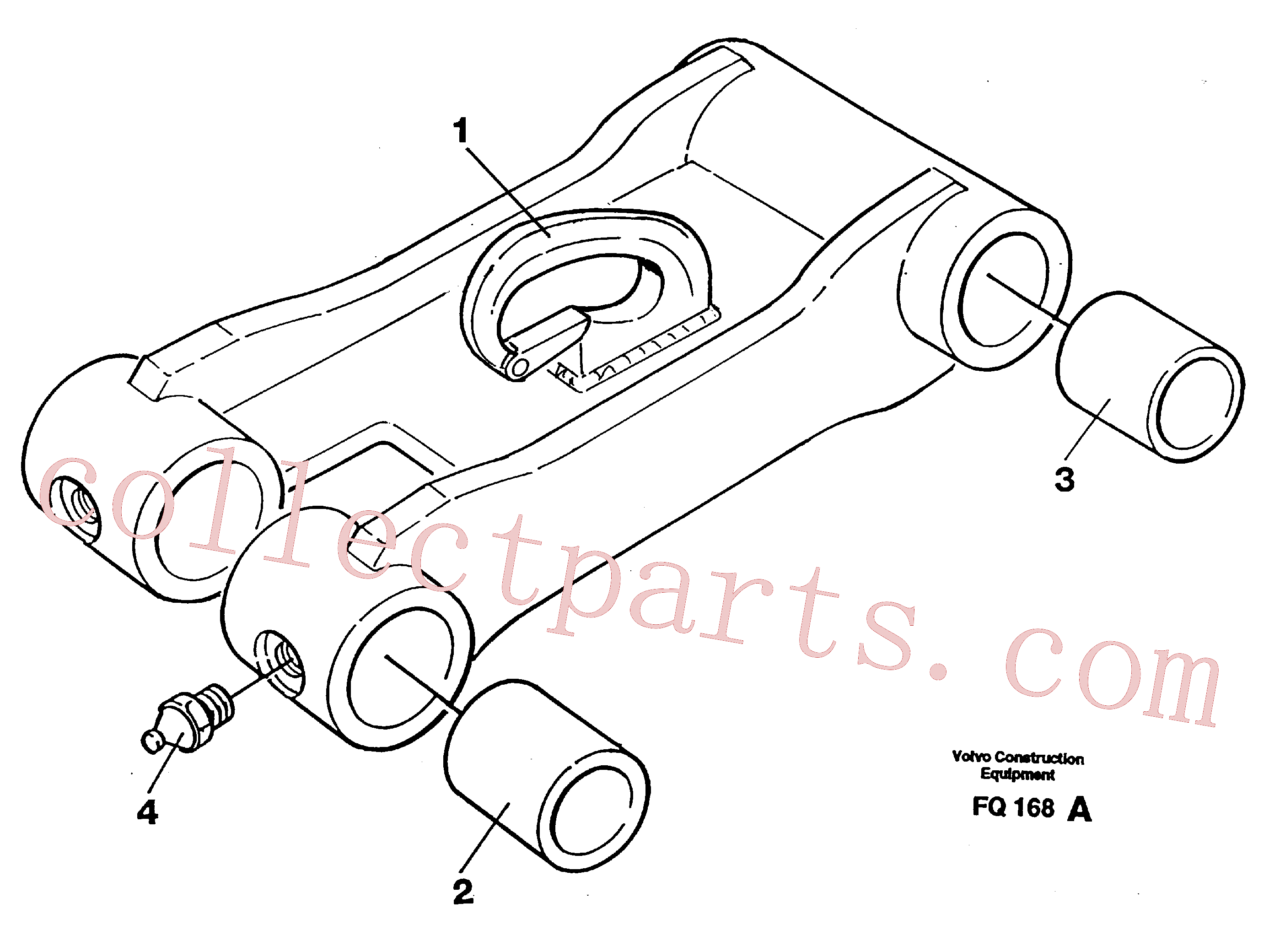 VOE14258237 for Volvo Bucket link(FQ168A assembly)