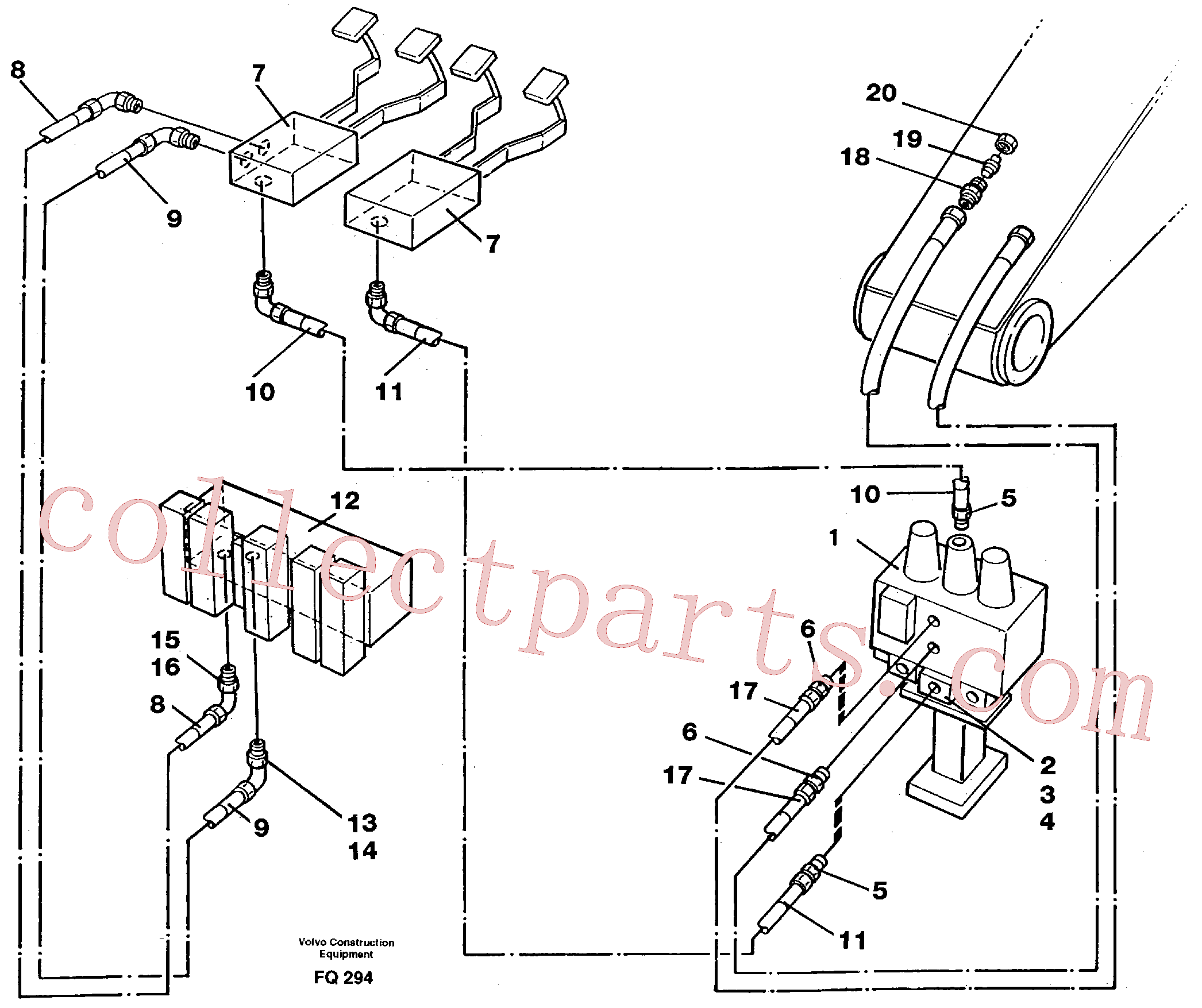 VOE14250306 for Volvo Slope bucket/rotator equipment for mono-boom in base machine(FQ294 assembly)