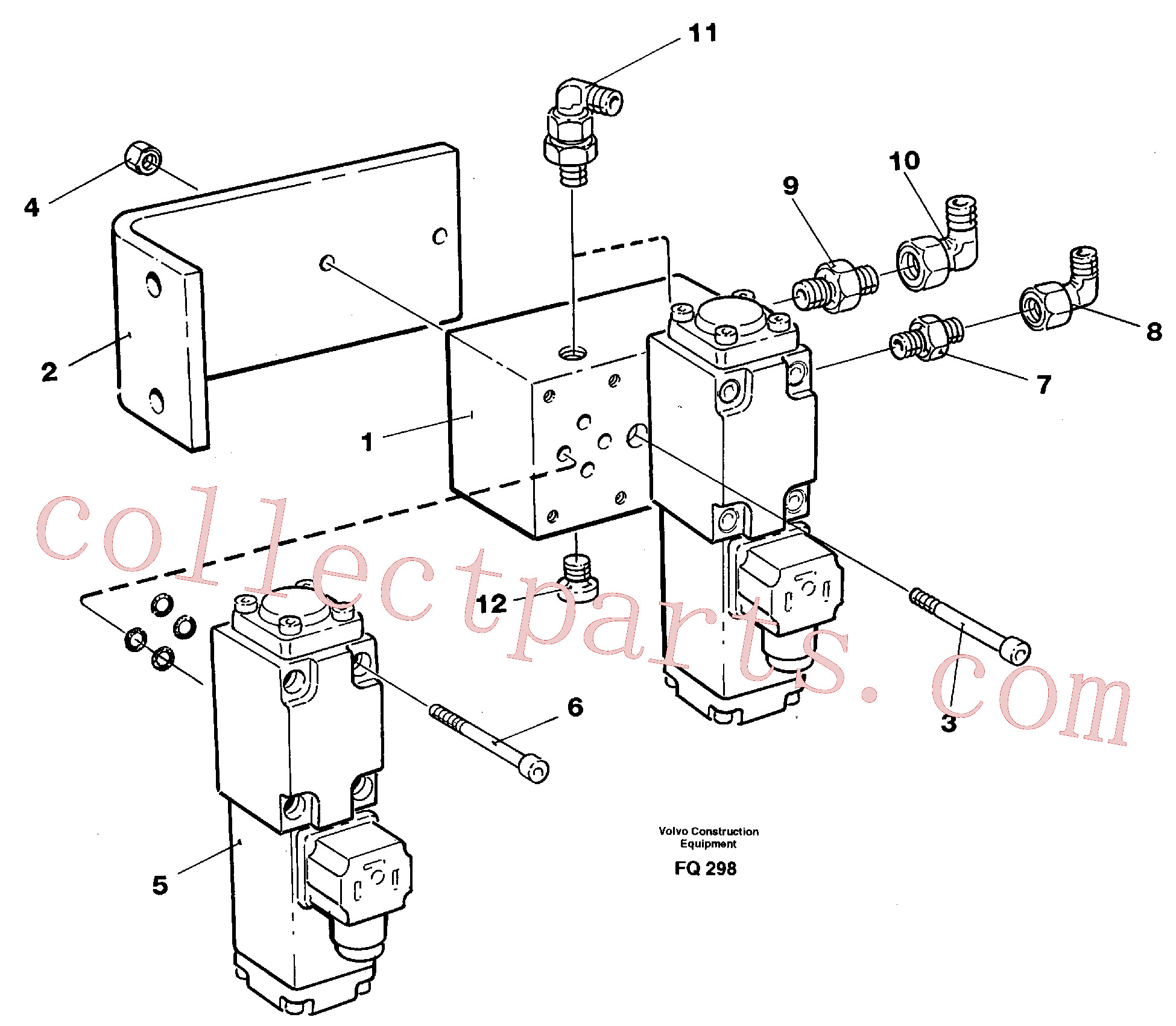 VOE14281965 for Volvo Electric valve block(FQ298 assembly)