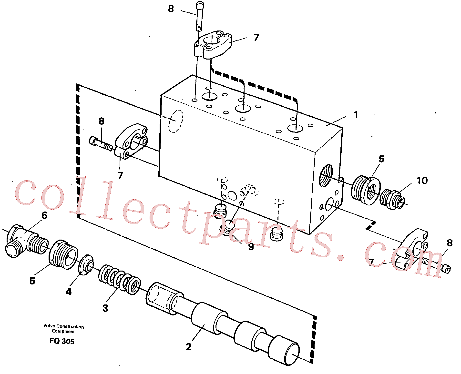 VOE14214989 for Volvo Operating valve(FQ305 assembly)
