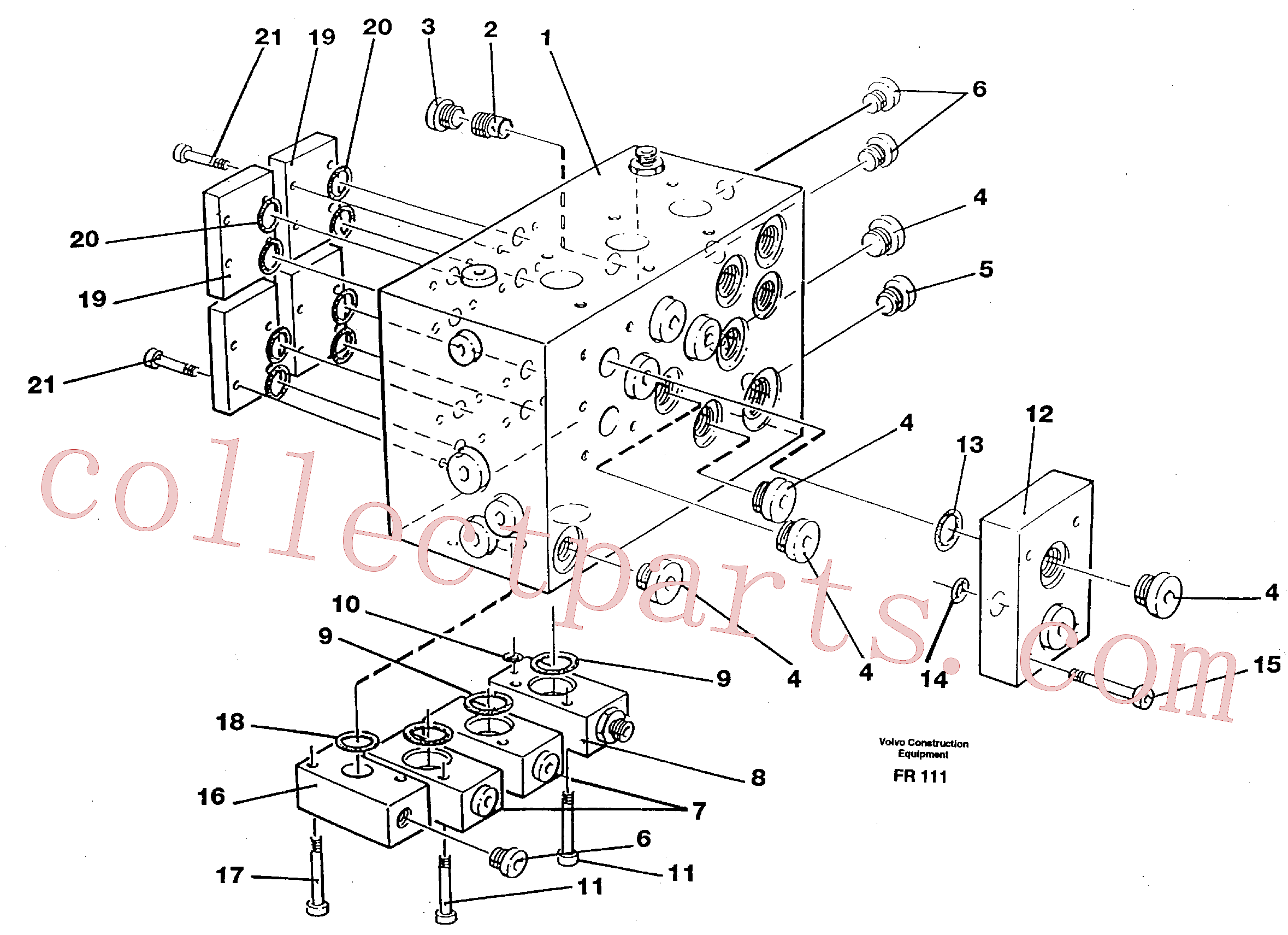 VOE11998170 for Volvo Slew valve assembly block(FR111 assembly)