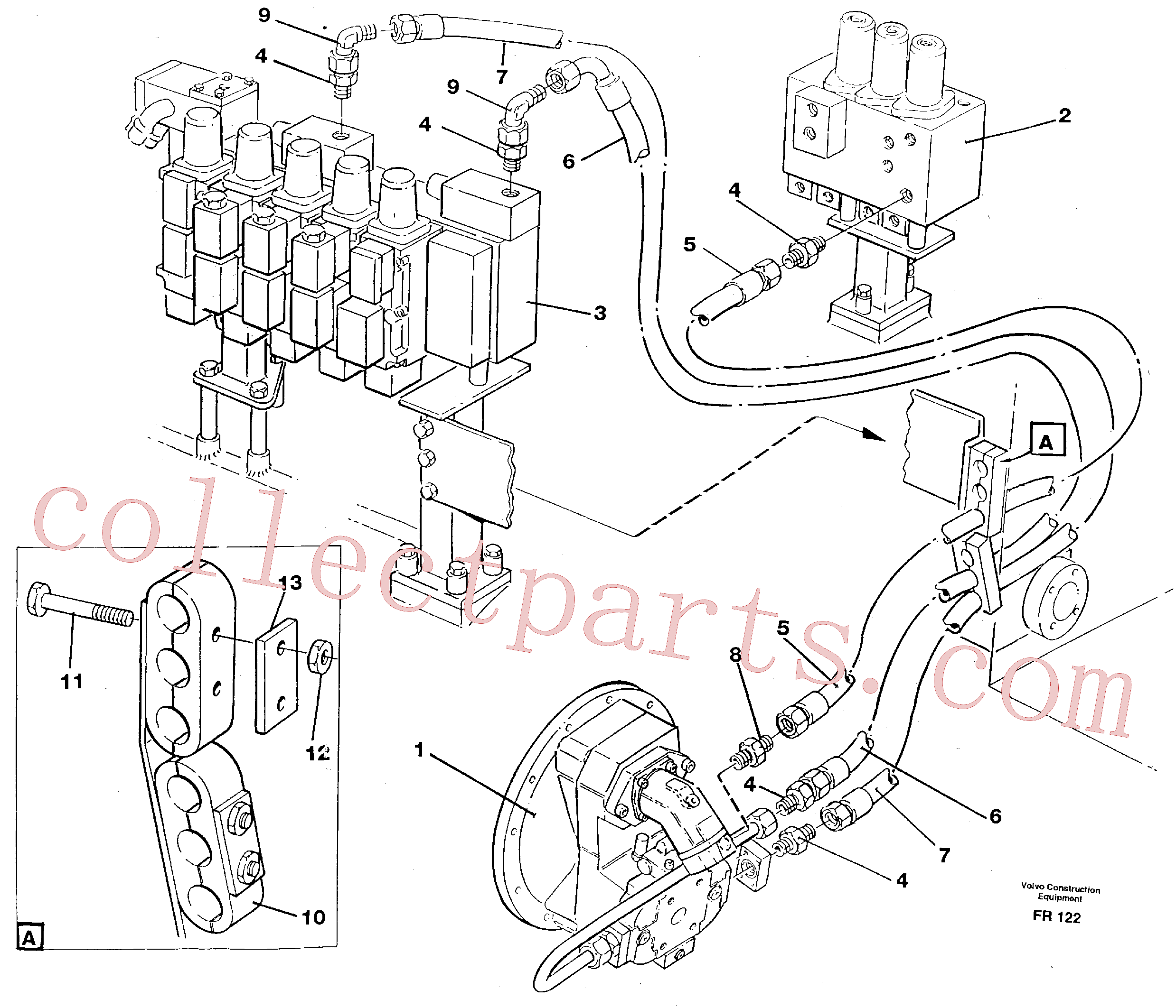 VOE14251421 for Volvo Hydraulic system, feed line(FR122 assembly)
