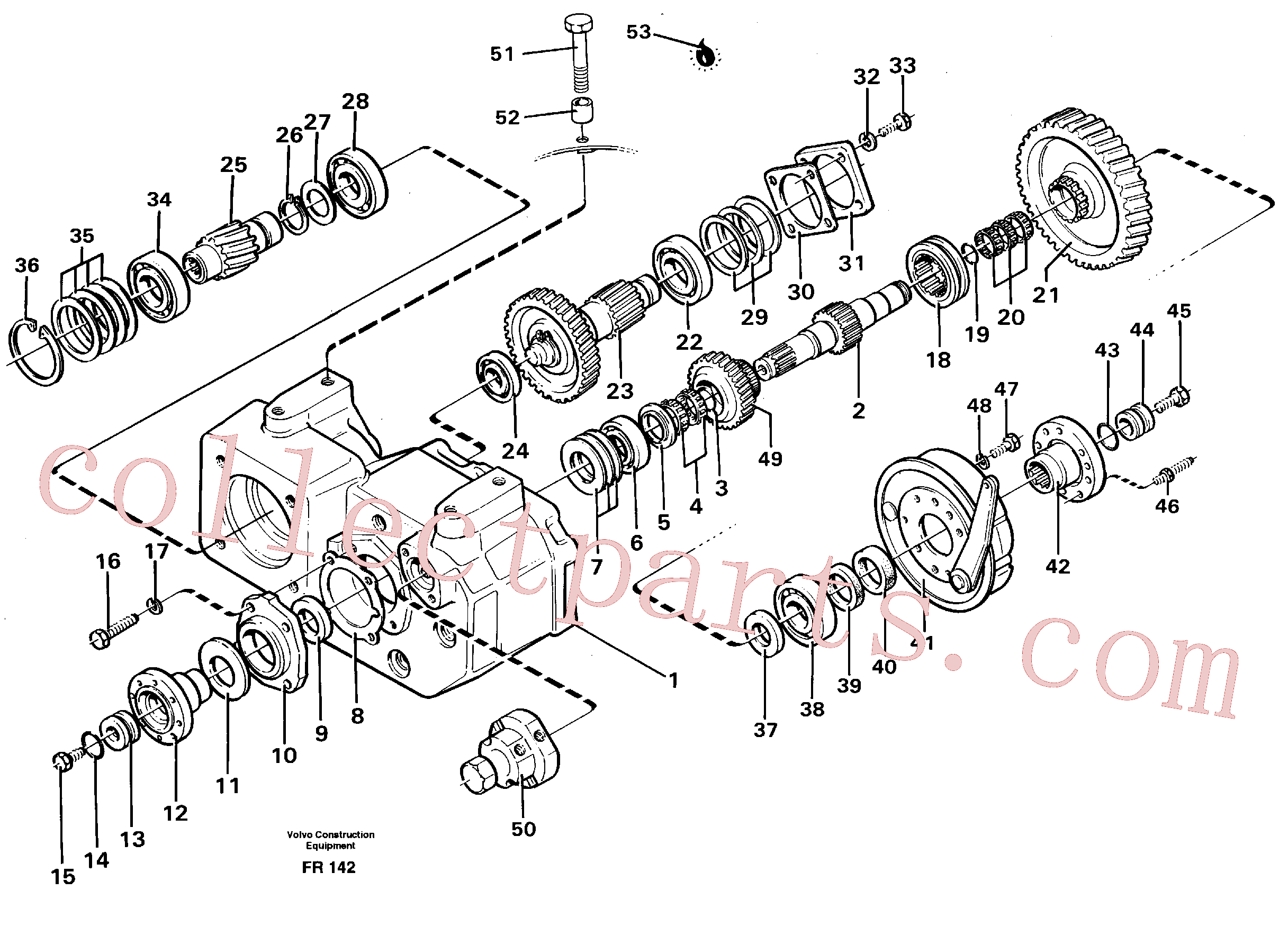 VOE914550 for Volvo Gear box, drive gear and shafts(FR142 assembly)