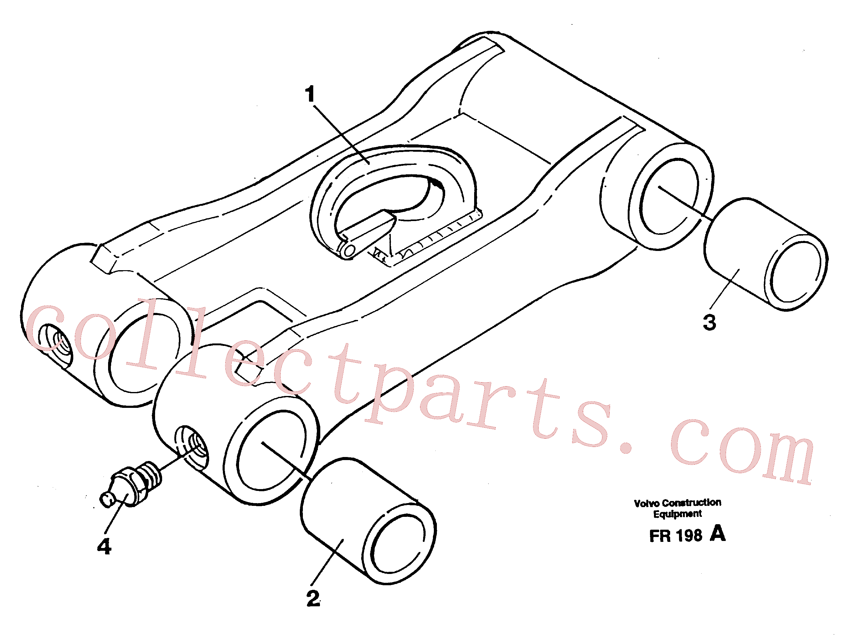 VOE14258237 for Volvo Bucket link(FR198A assembly)