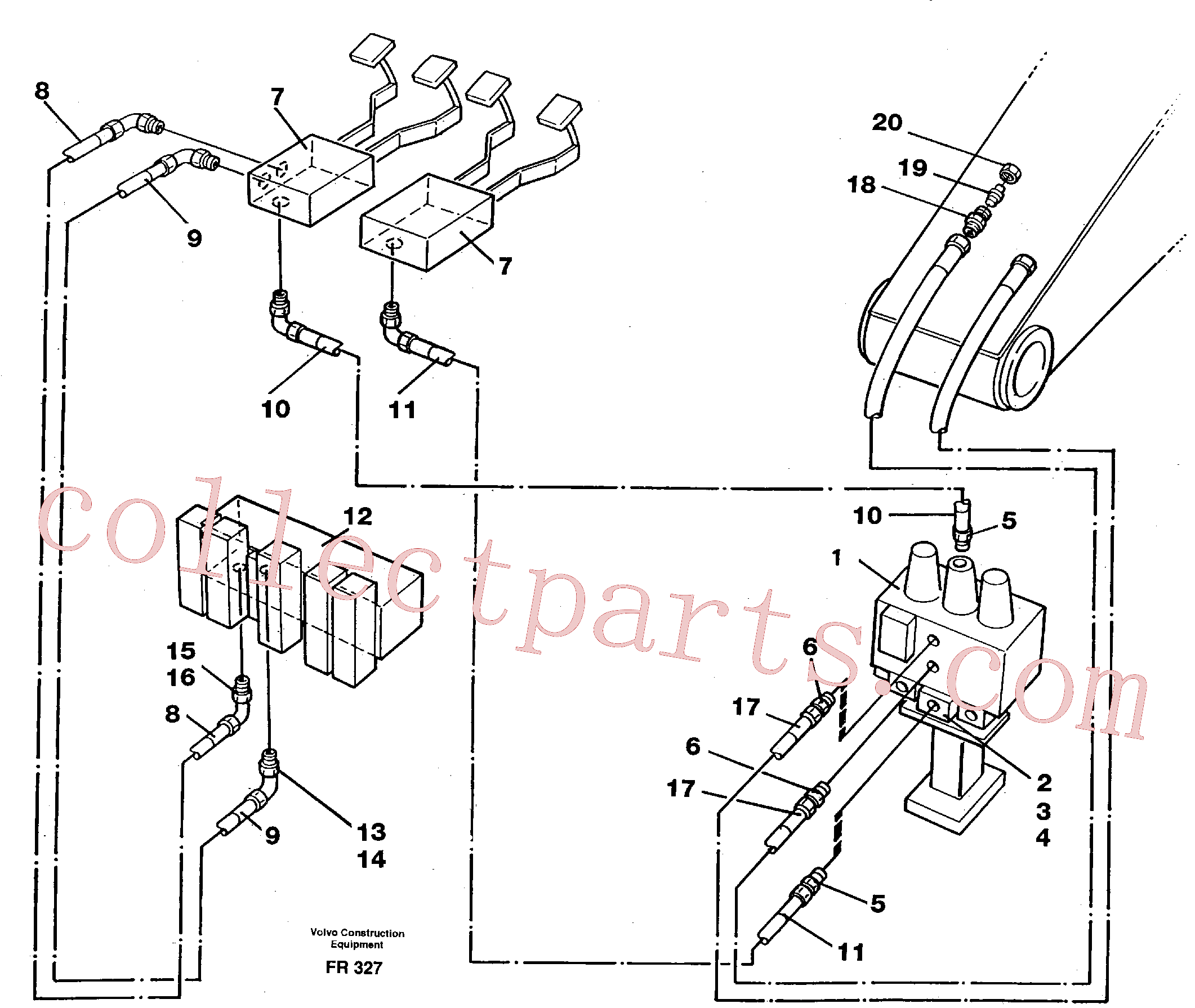 VOE14250306 for Volvo Slope bucket/rotator equipment for mono-boom in base machine(FR327 assembly)