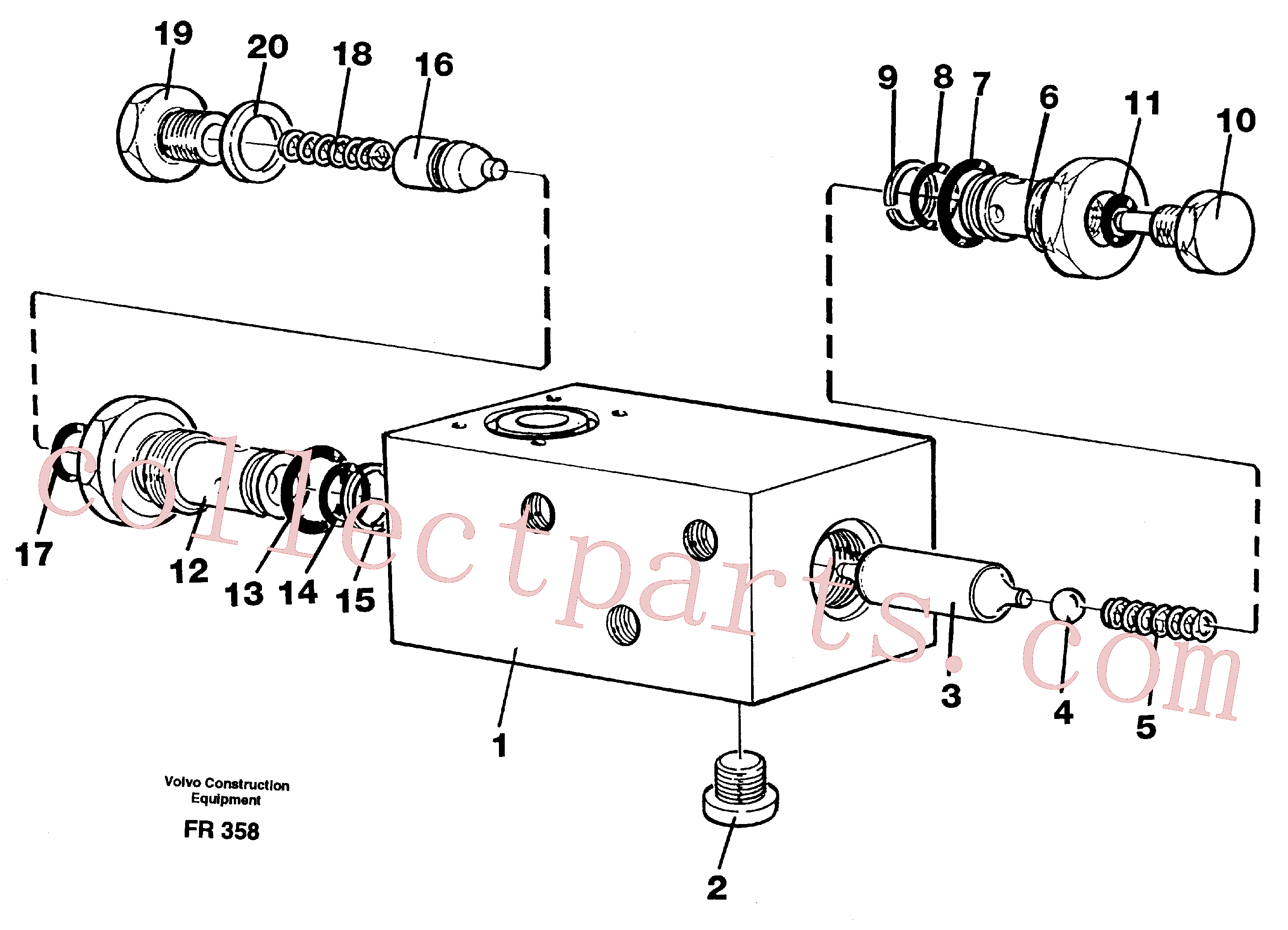 VOE960168 for Volvo Hydraulic lock(FR358 assembly)