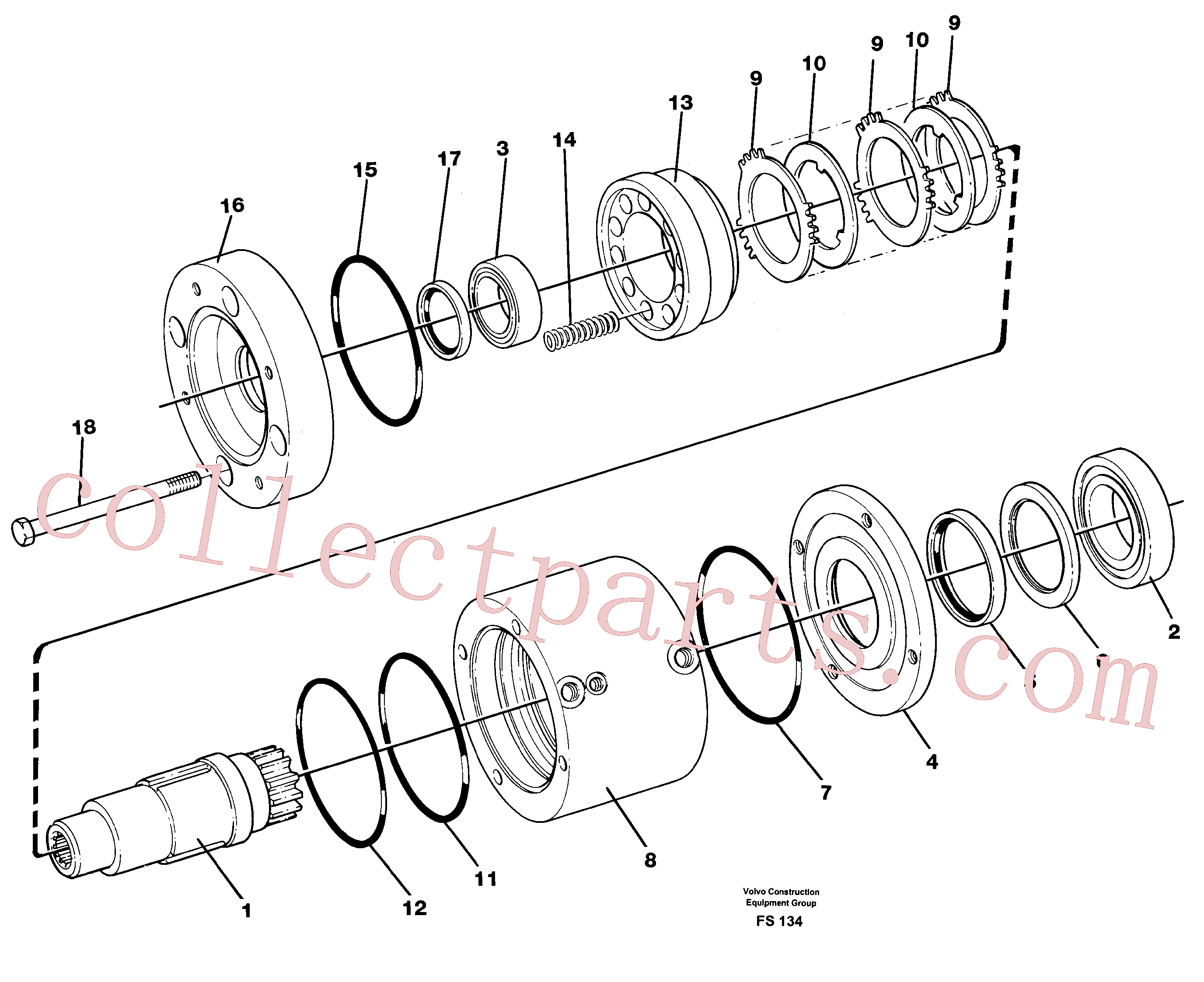 VOE14233467 for Volvo Slewing brake(FS134 assembly)