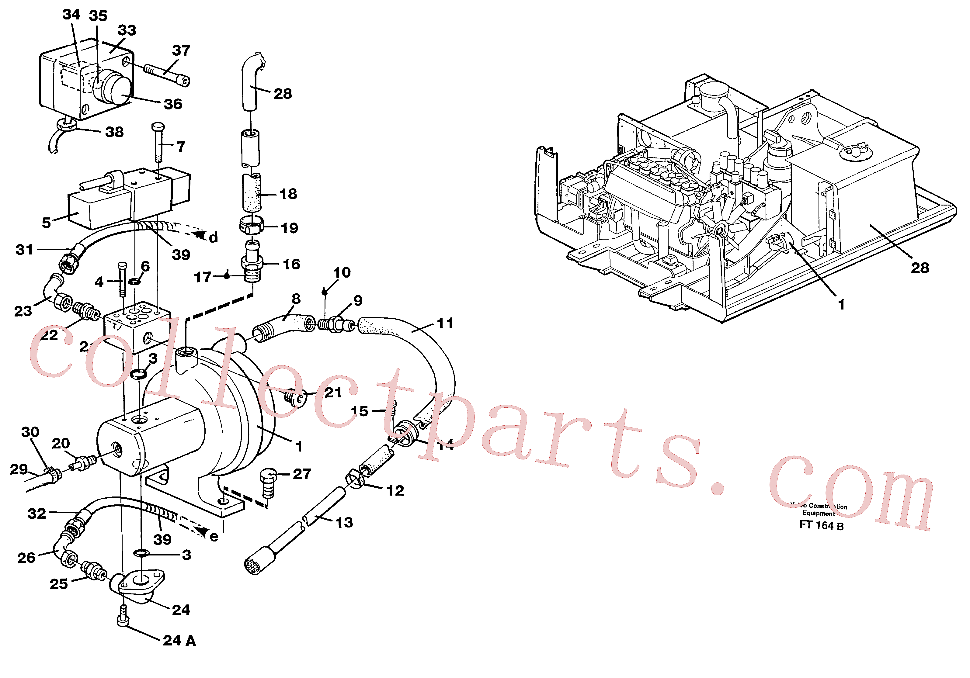 VOE14216210 for Volvo Hydraulic system, fuel pump(FT164B assembly)