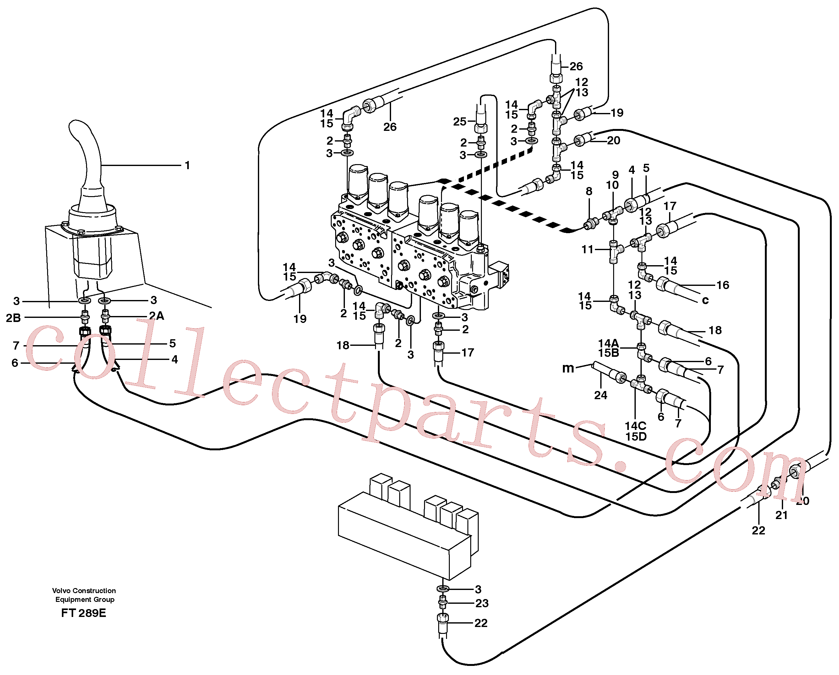 ZM7091906 for Volvo Servo hydraulics, dipper arm(FT289E assembly)