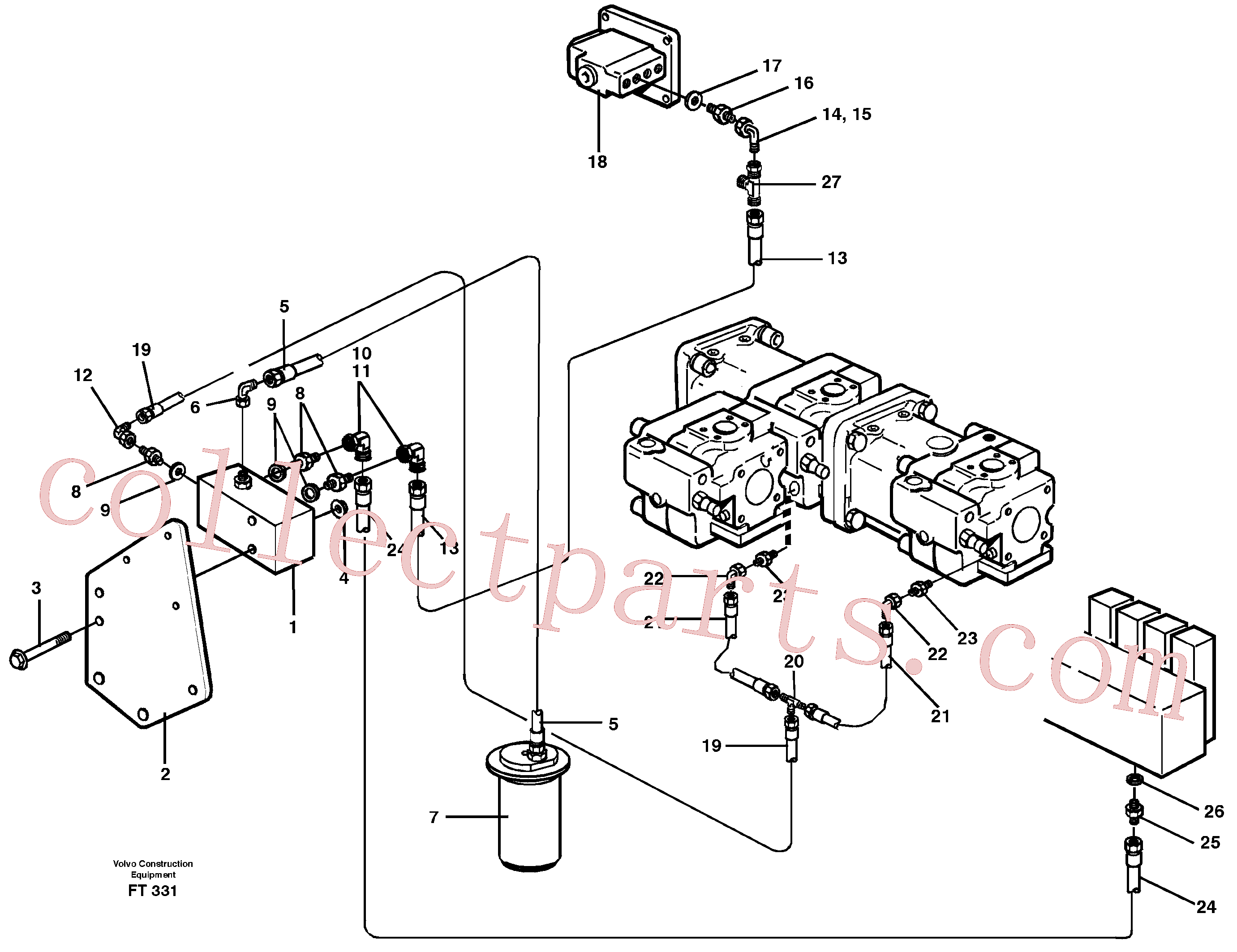 VOE14257548 for Volvo Servo hydraulics, down shift valve(FT331 assembly)