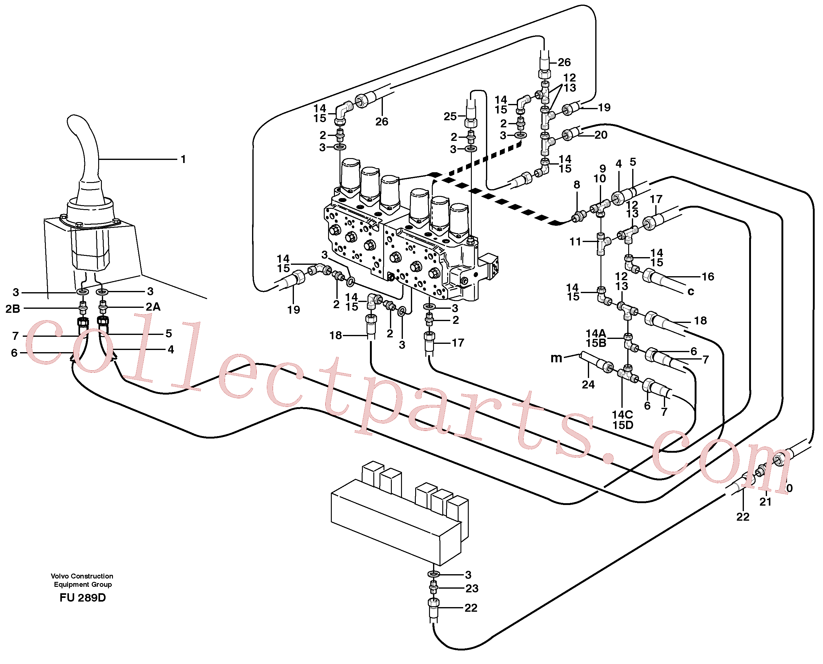 ZM7091906 for Volvo Servo hydraulics, dipper arm(FU289D assembly)