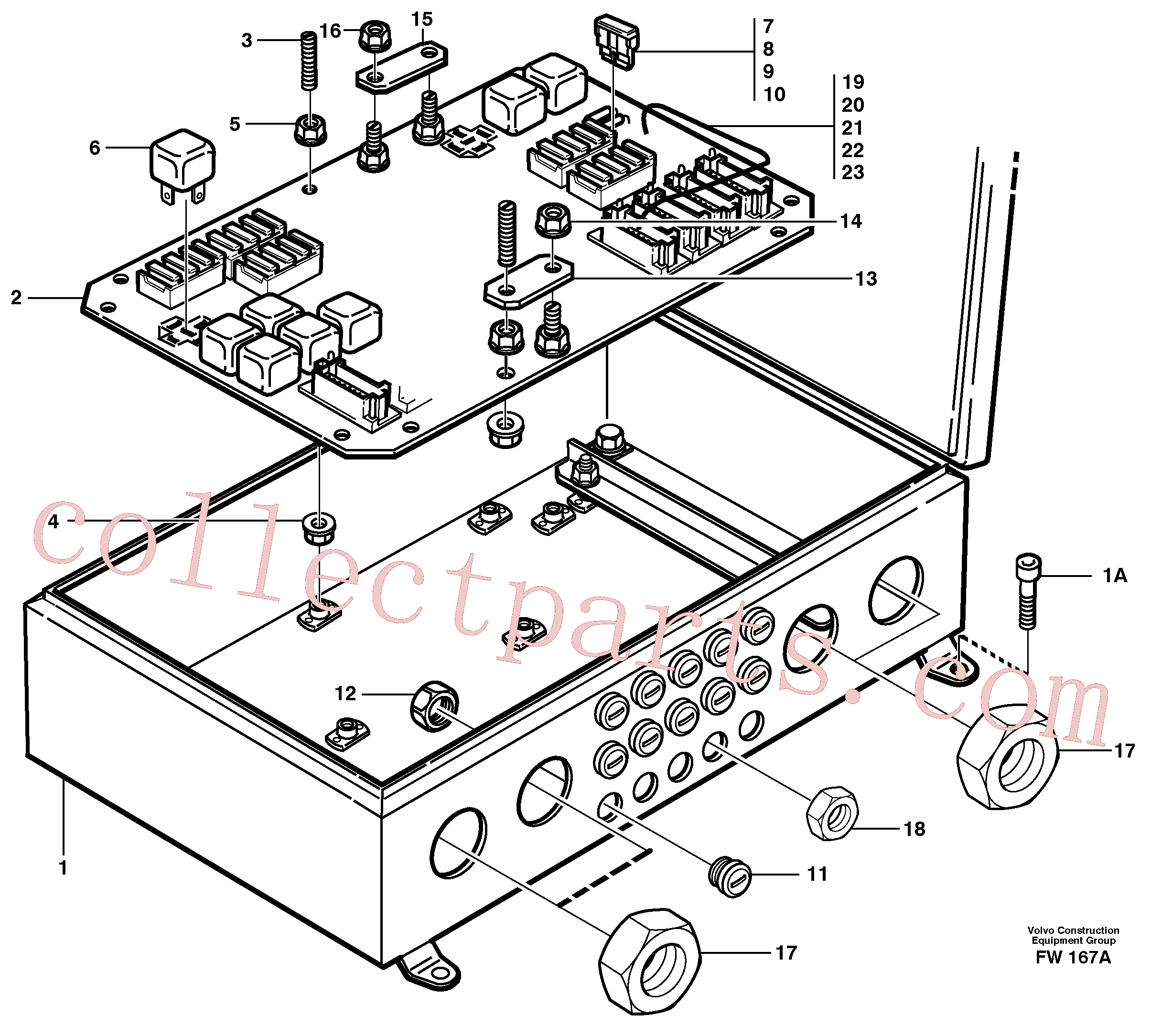 VOE970776 for Volvo Electrical distribution box(FW167A assembly)