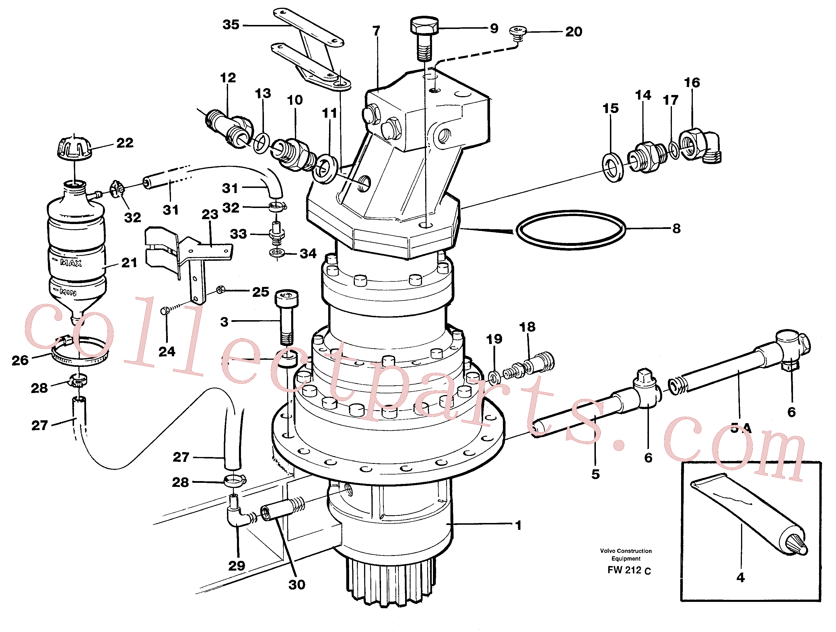 VOE14344426 for Volvo Swing gearbox with fitting parts(FW212C assembly)