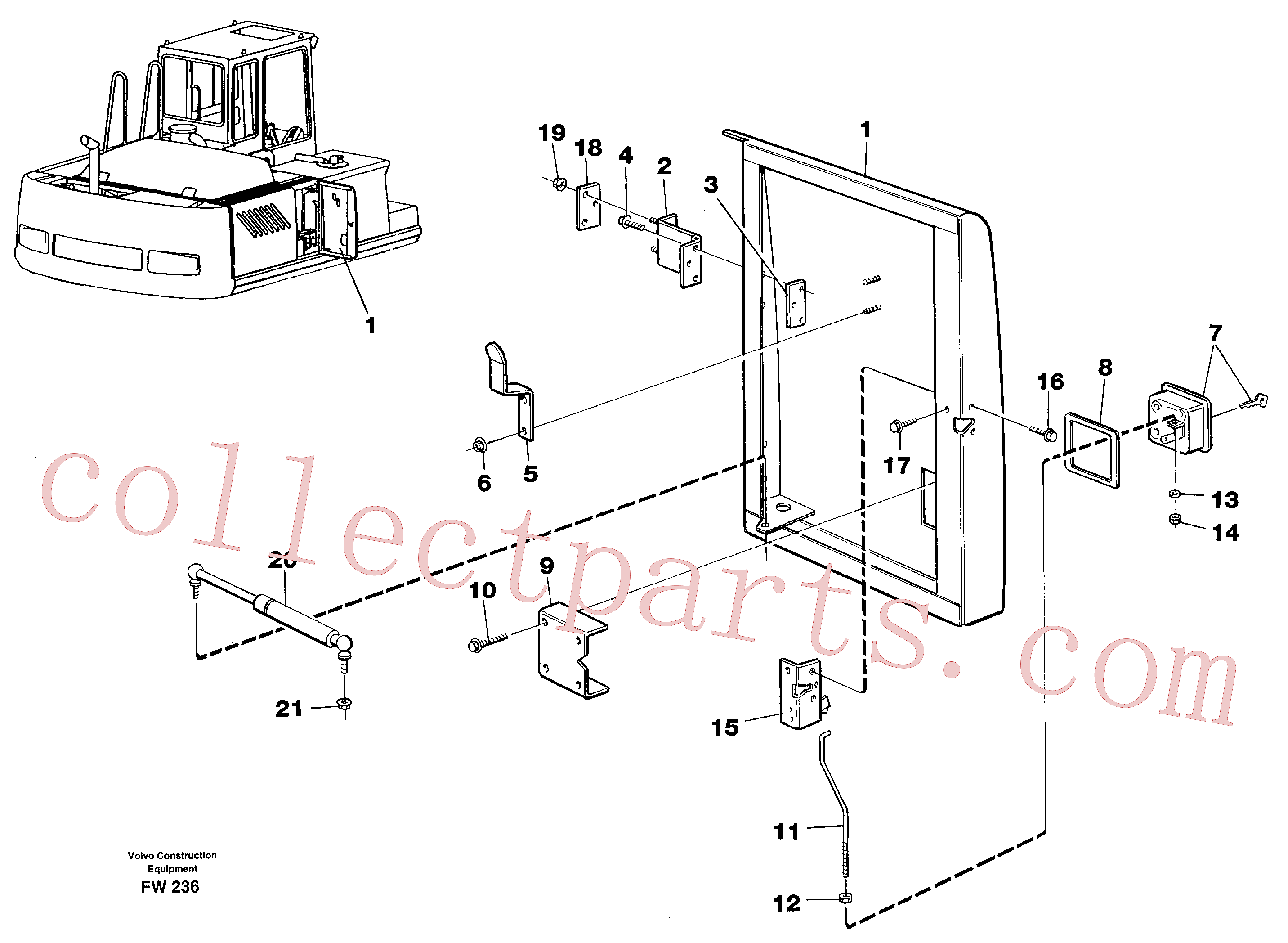 VOE11706359 for Volvo Door, centre, right(FW236 assembly)