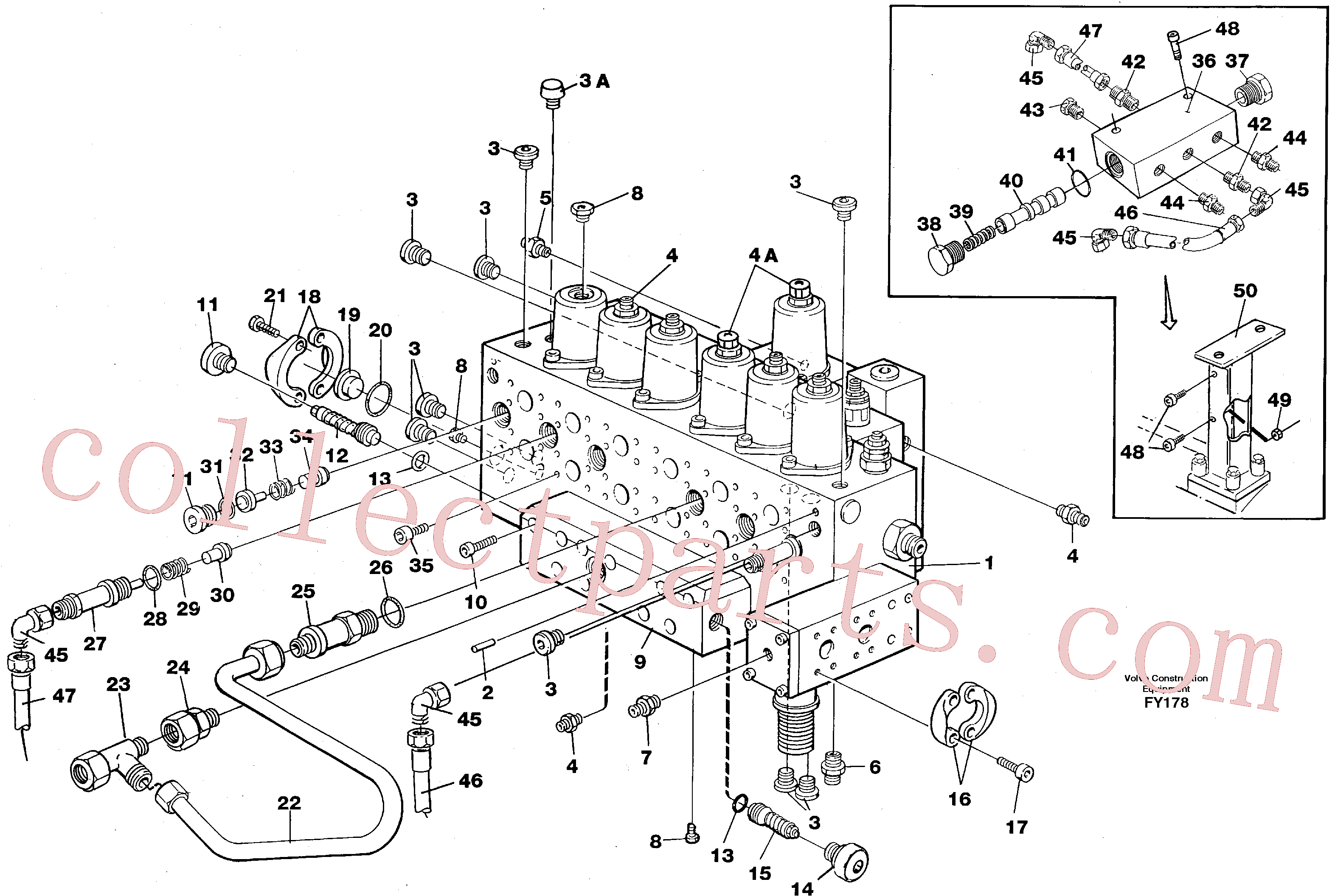 VOE11015454 for Volvo Main valve assembly, tubes connections, assembly bloc(FY178 assembly)