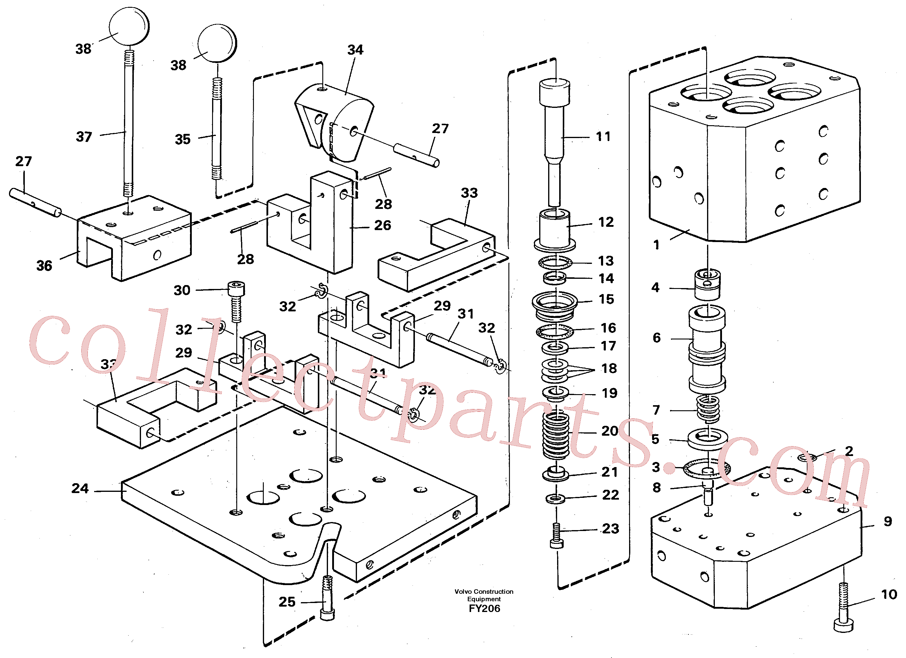 VOE14242250 for Volvo Control pressure valve(FY206 assembly)