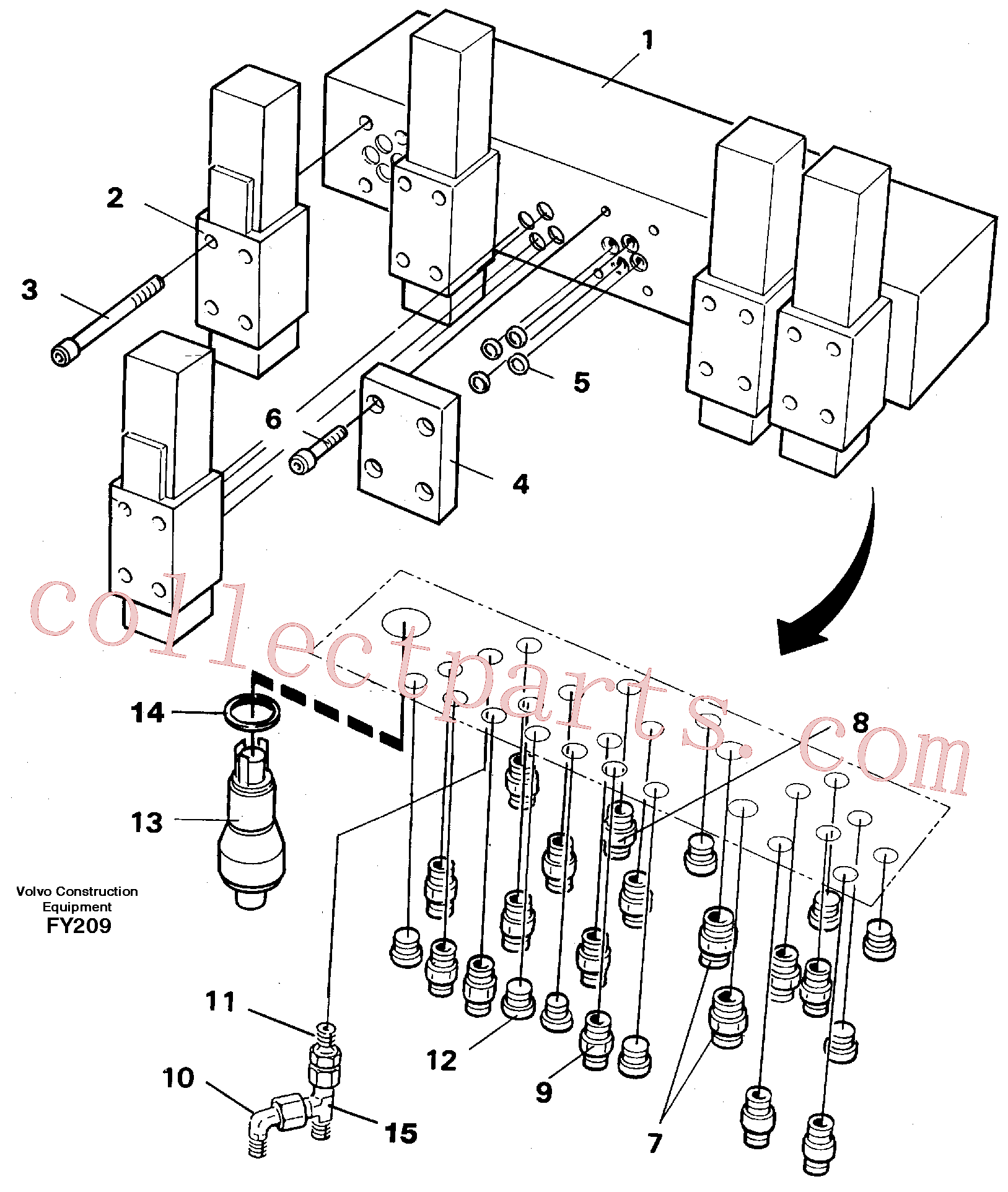 VOE959197 for Volvo Valve body(FY209 assembly)