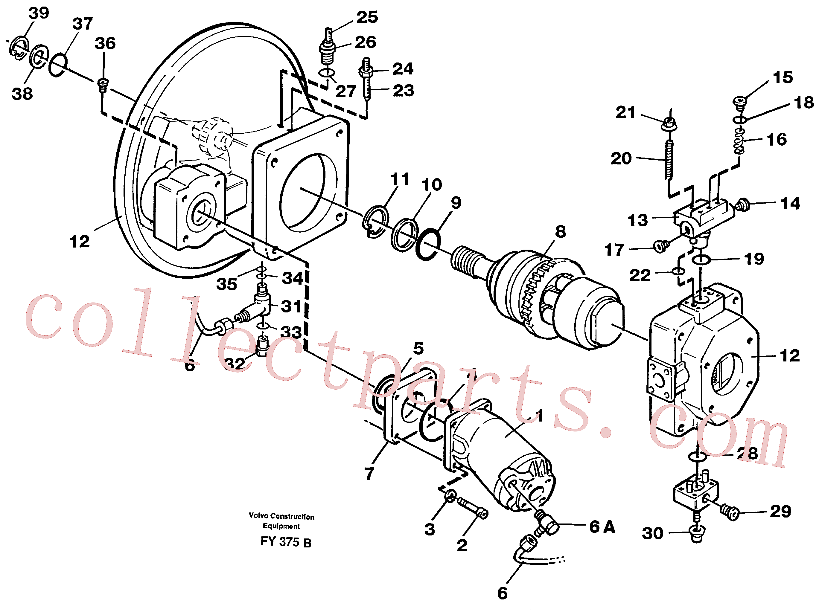 VOE11992751 for Volvo Pump gear box(FY375B assembly)