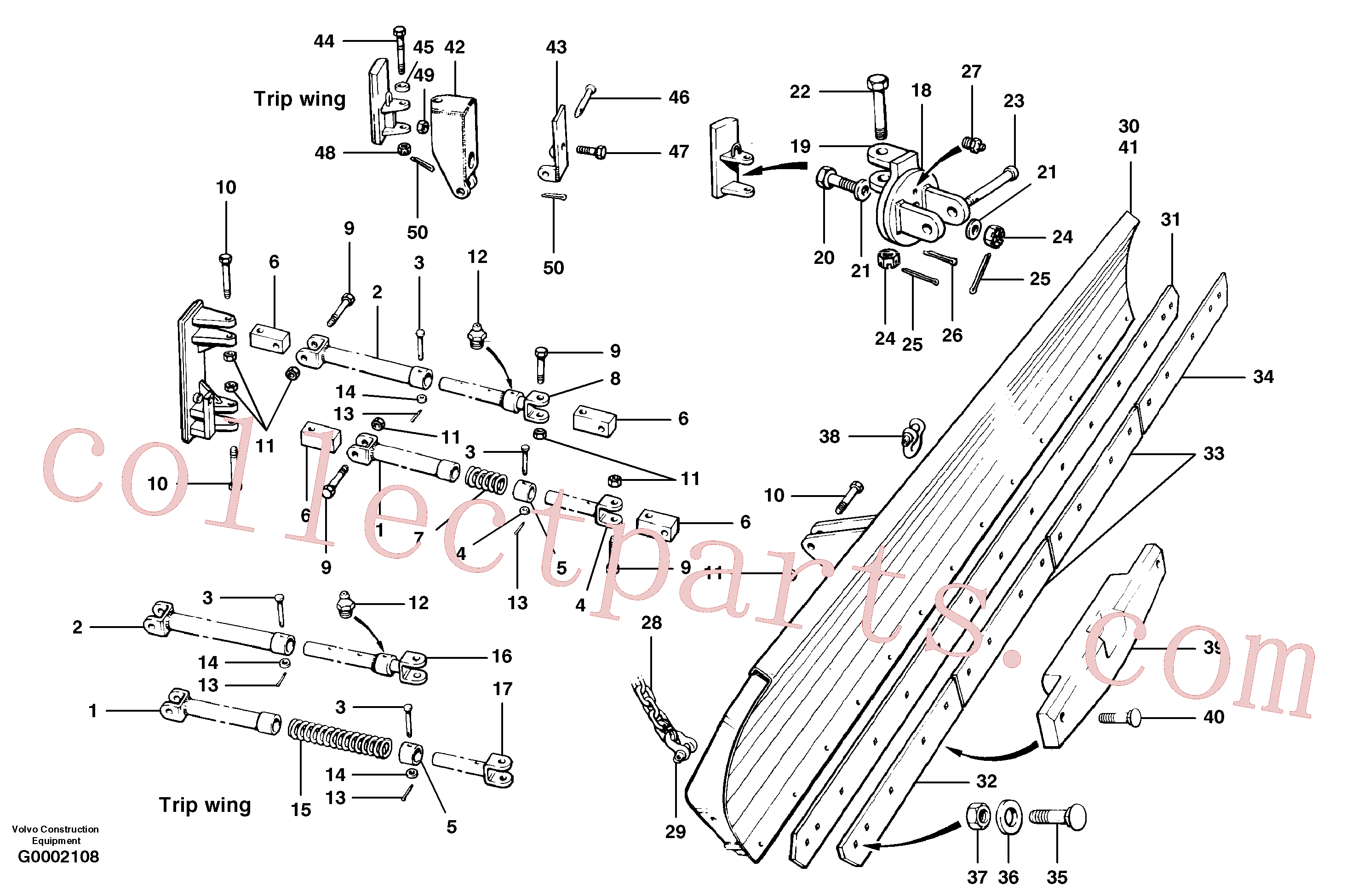CH22129 for Volvo Wing installation - cable wing(G0002108 assembly)