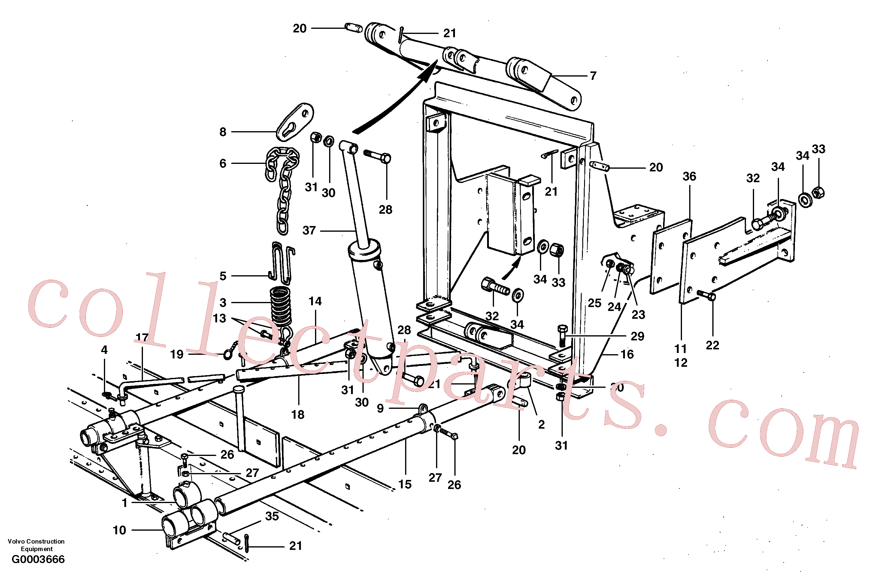 CH22129 for Volvo Windrow eliminator(G0003666 assembly)