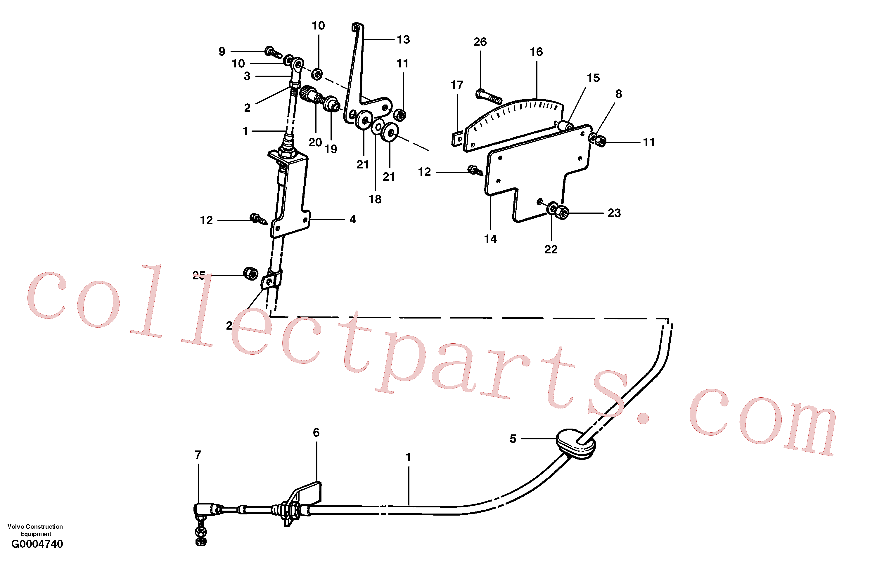 CH32316 for Volvo Articulation indicator(G0004740 assembly)