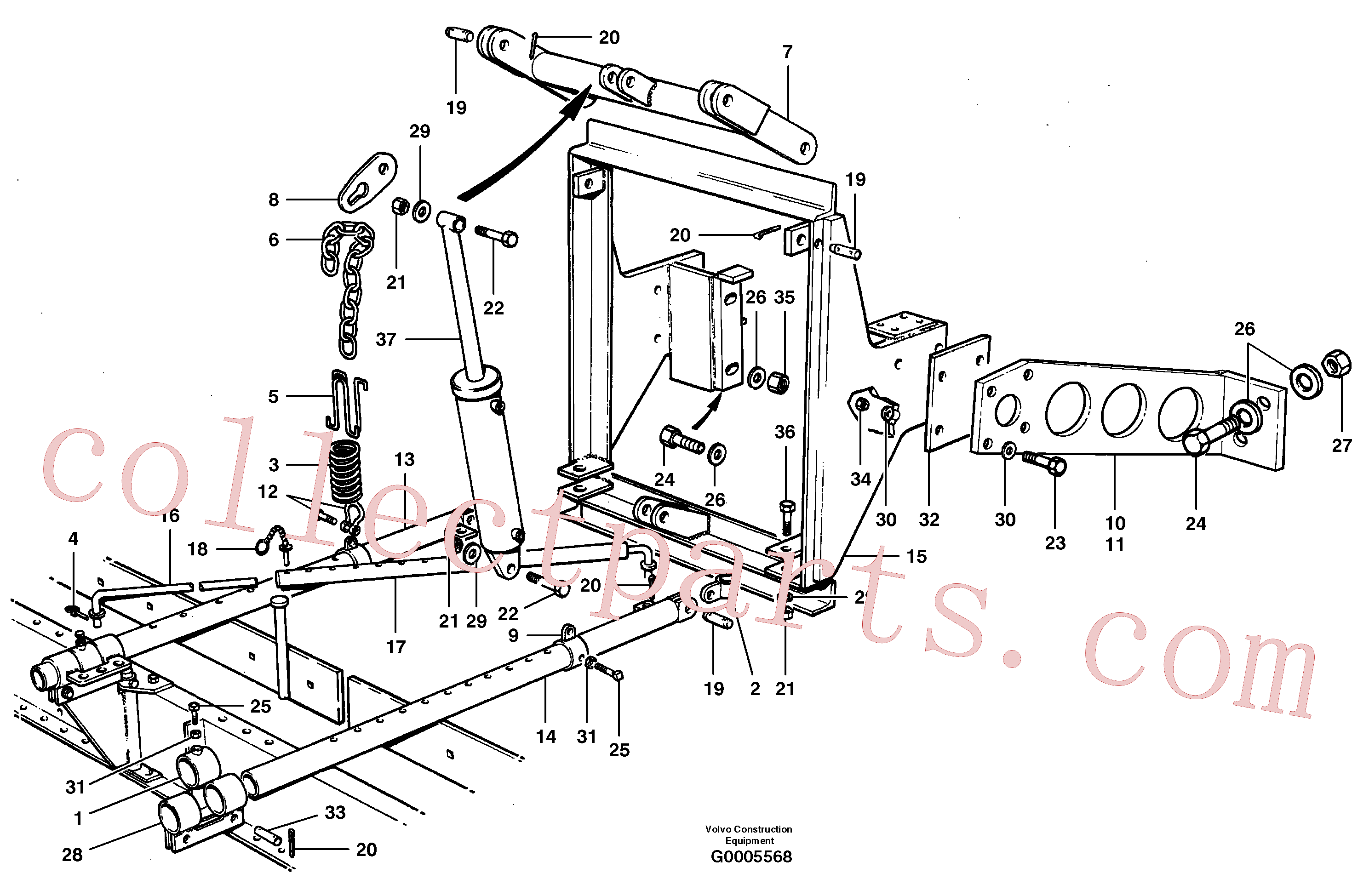 CH22129 for Volvo Windrow eliminator(G0005568 assembly)