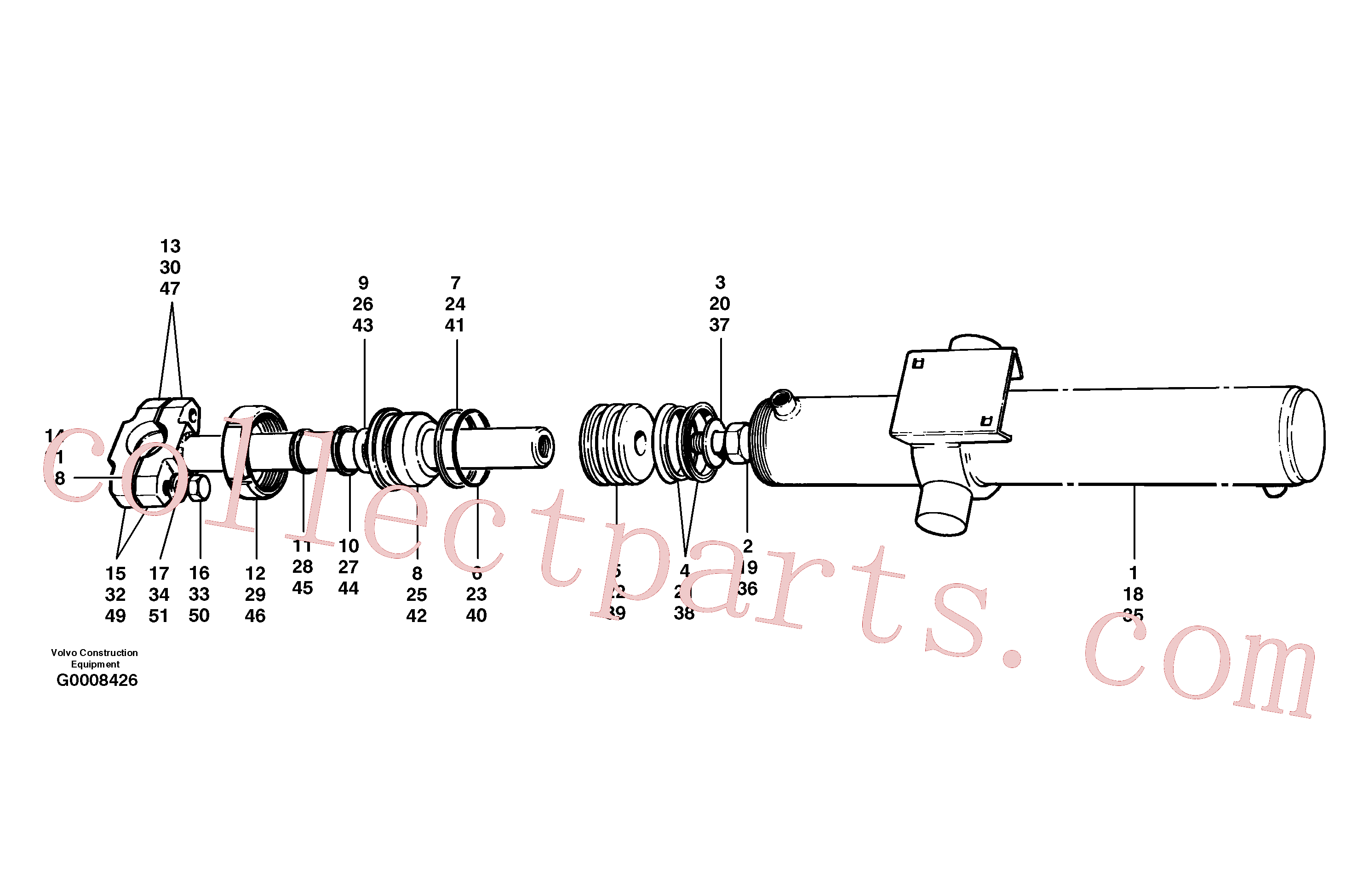 CH59945 for Volvo Blade lift cylinders(G0008426 assembly)