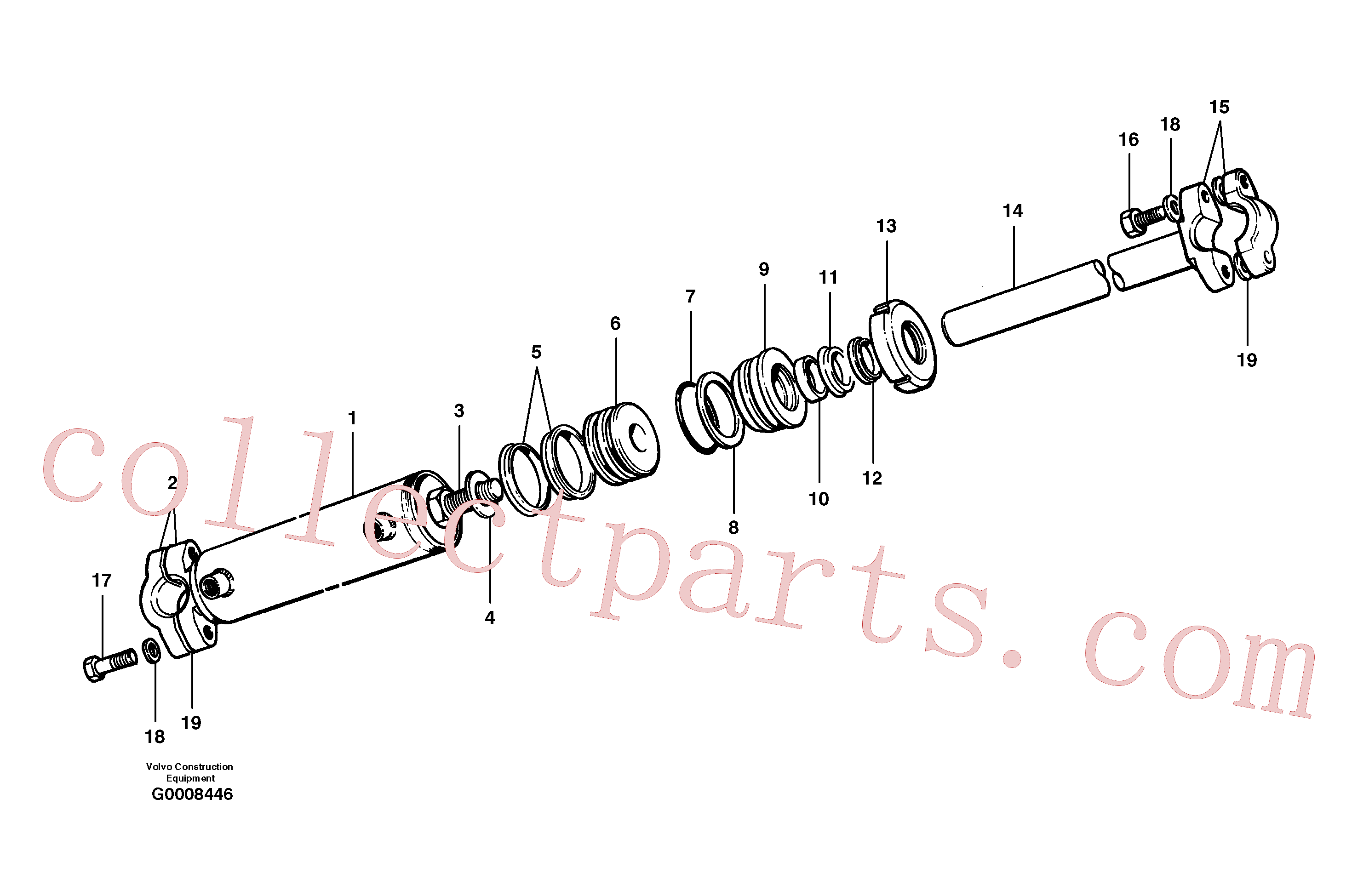 CH59945 for Volvo Circuit shift cylinder(G0008446 assembly)