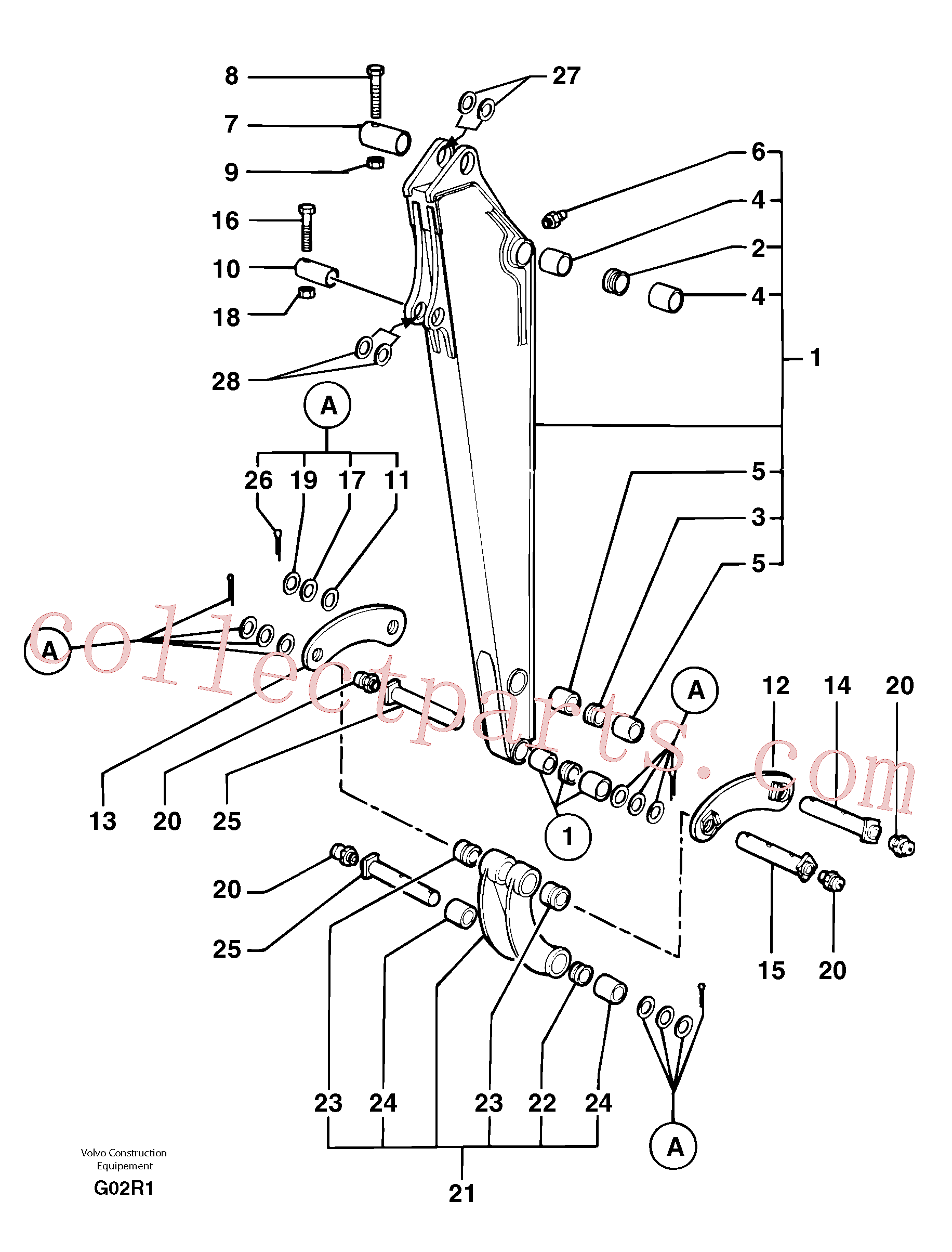 PJ5540099 for Volvo Dipper arm(G02R1 assembly)