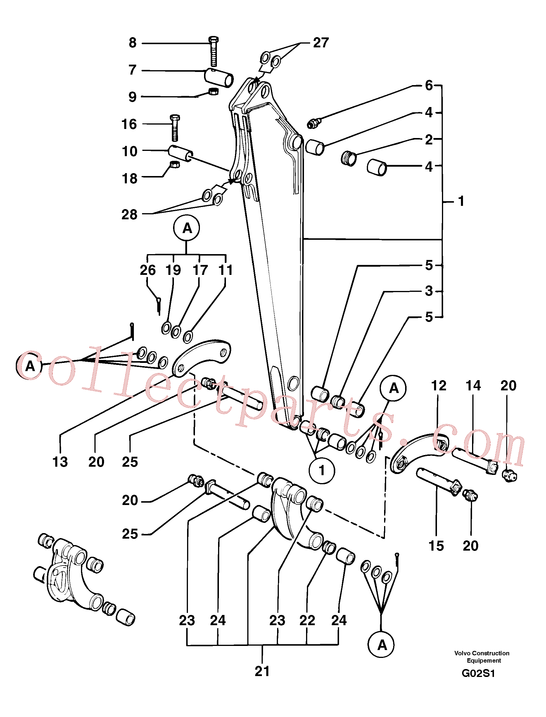 PJ5540099 for Volvo Dipper arm(G02S1 assembly)