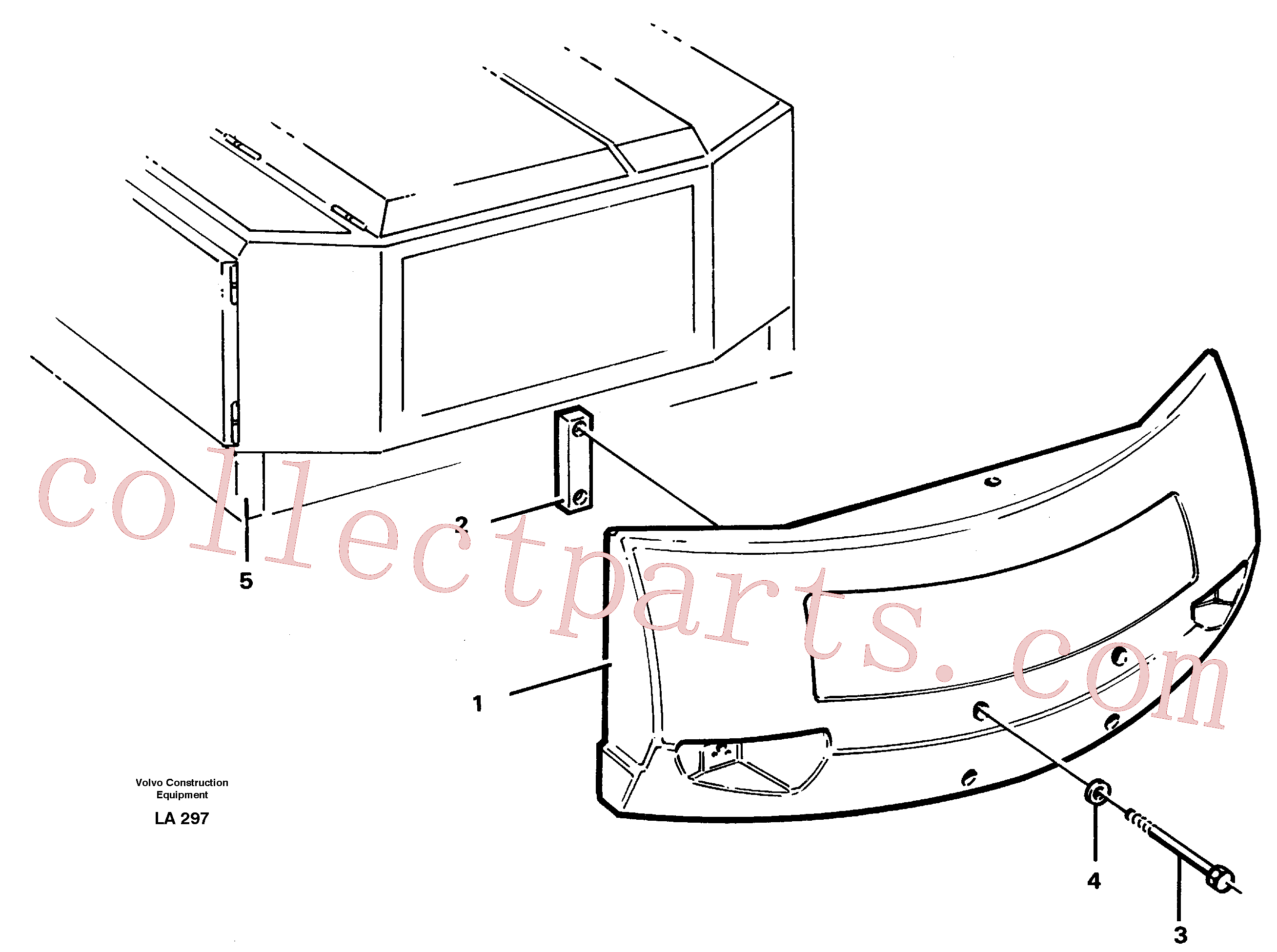 VOE14015140 for Volvo Counterweights(LA297 assembly)